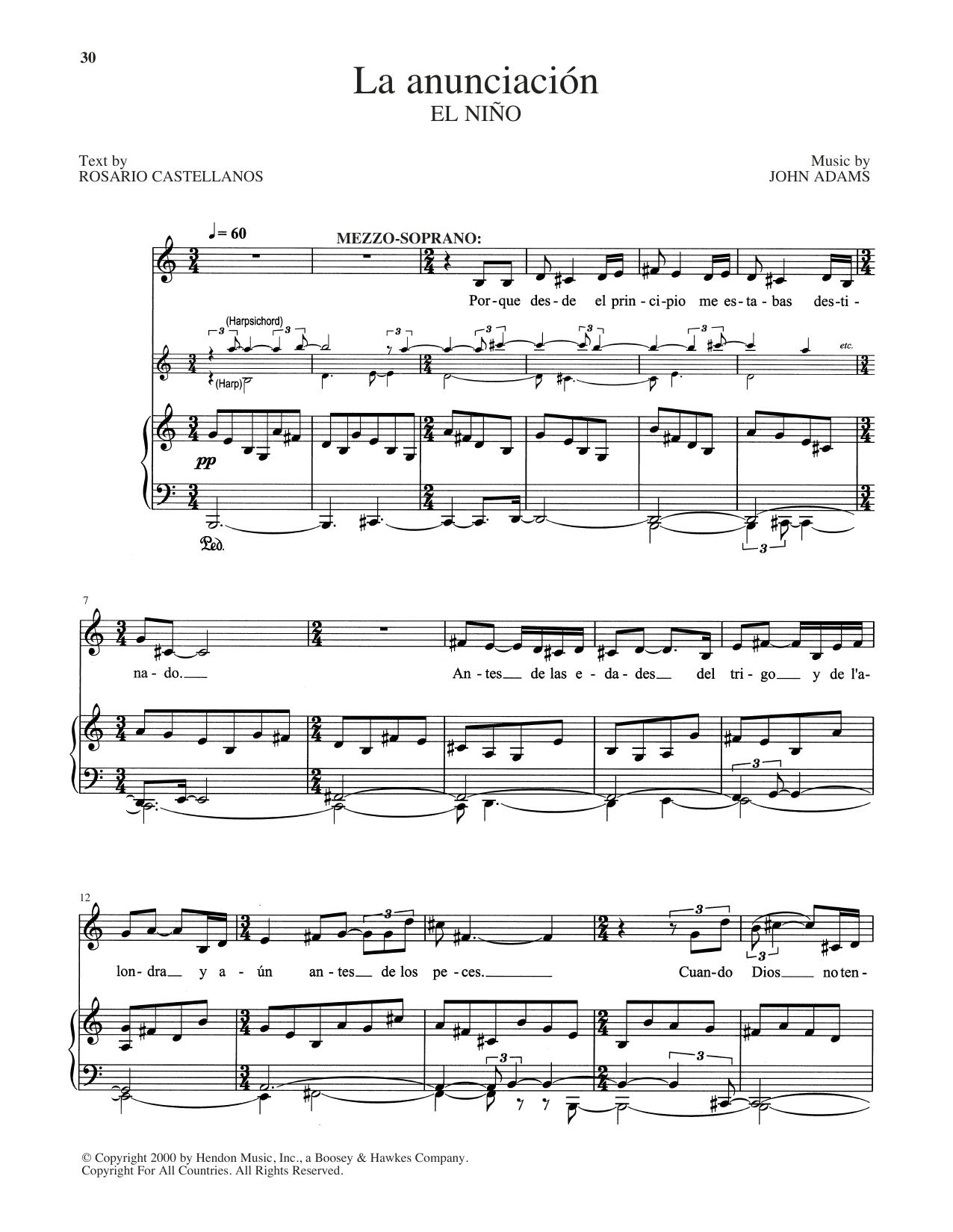La Anunciacion (Piano & Vocal)