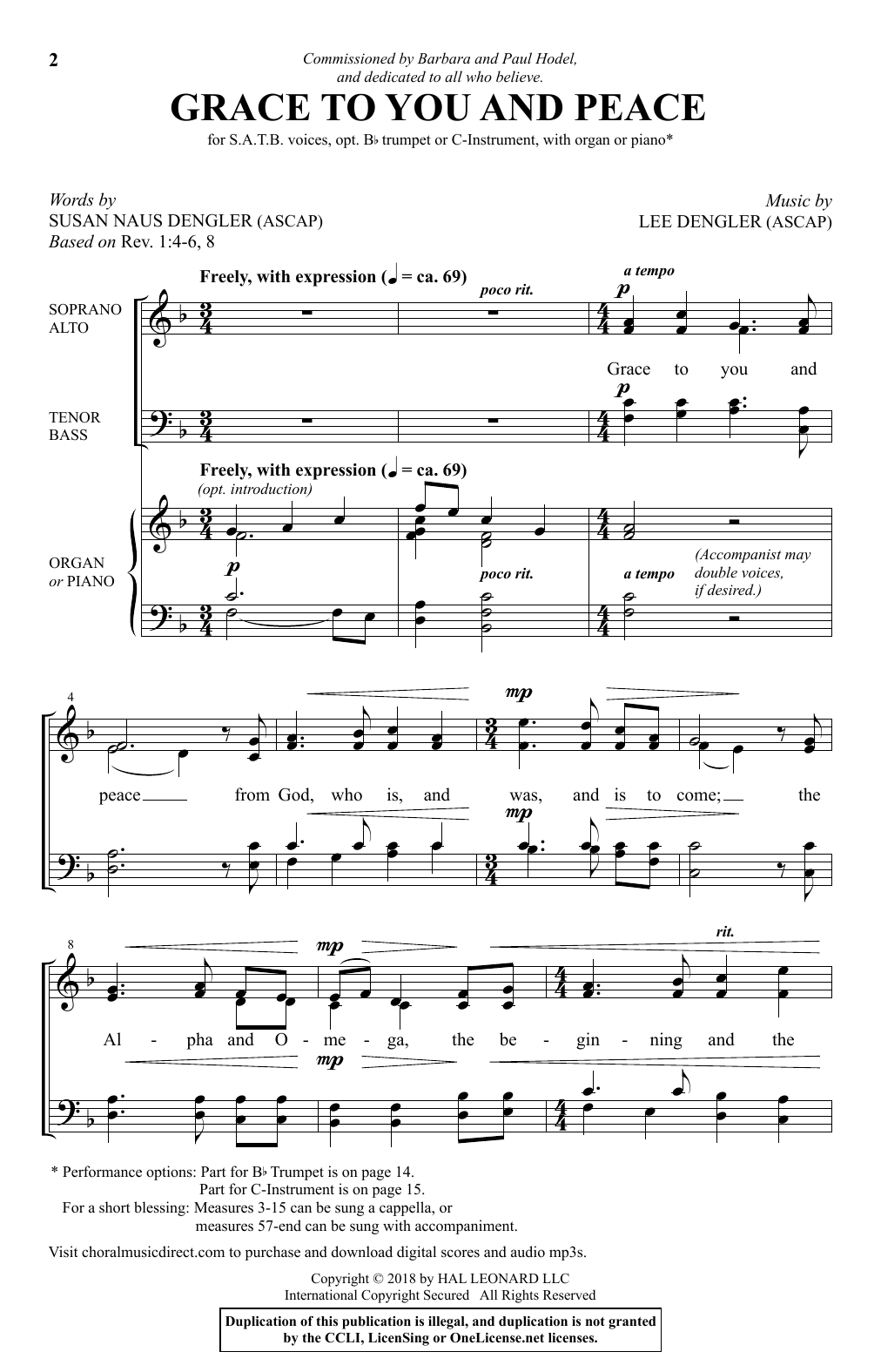 Grace To You And Peace (Choir)