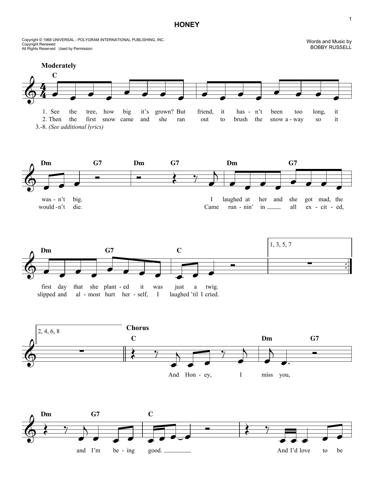 Honey Sheet Music