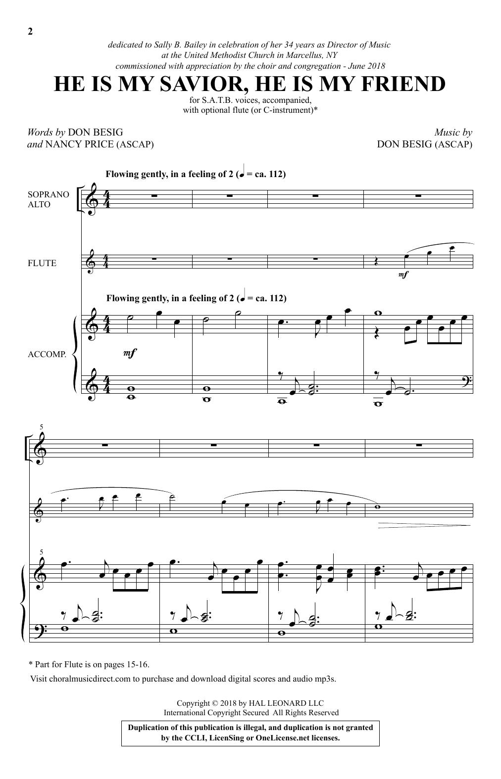 He Is My Savior, He Is My Friend (Choir)