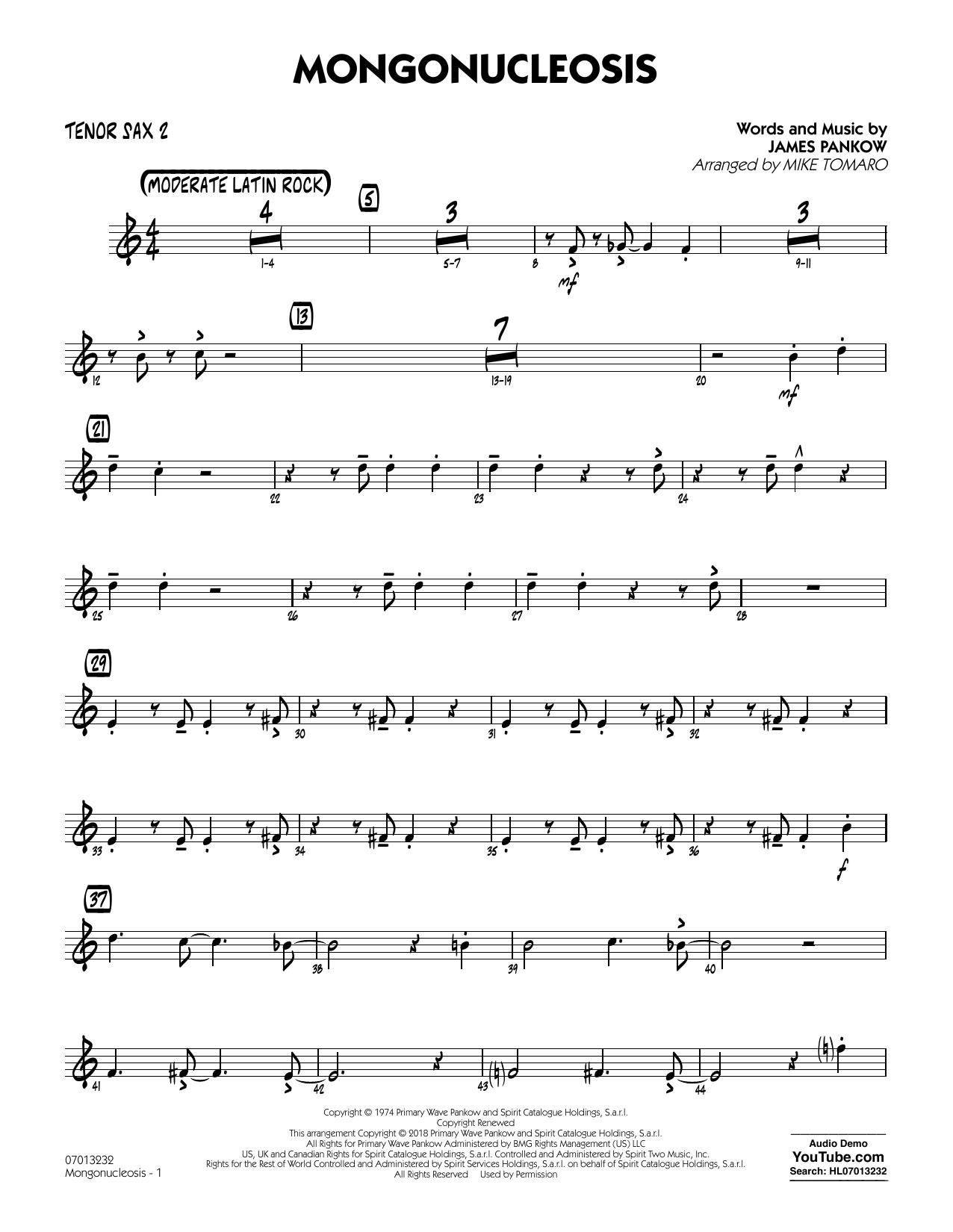 Mongonucleosis (arr. Mike Tomaro) - Tenor Sax 2 (Jazz Ensemble)