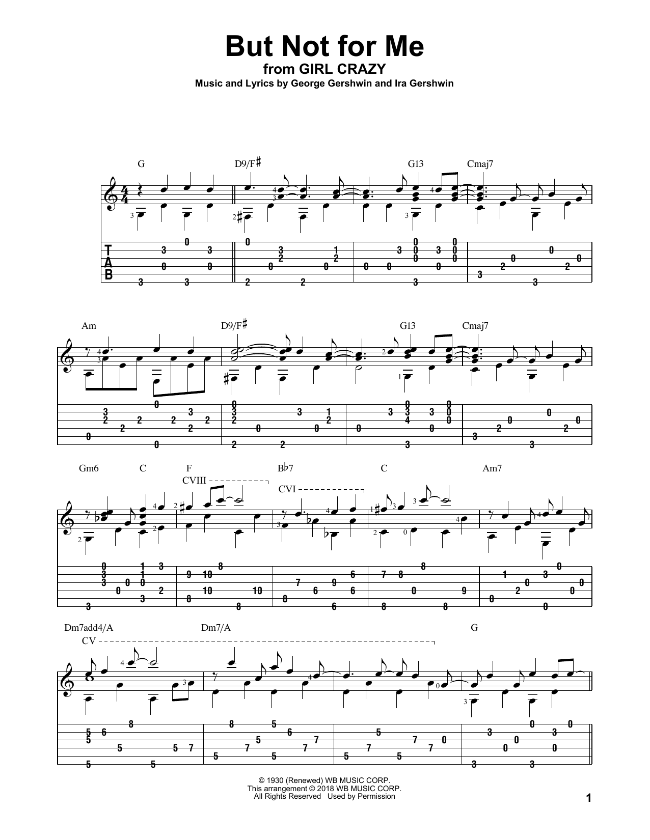 But Not For Me (Solo Guitar Tab)