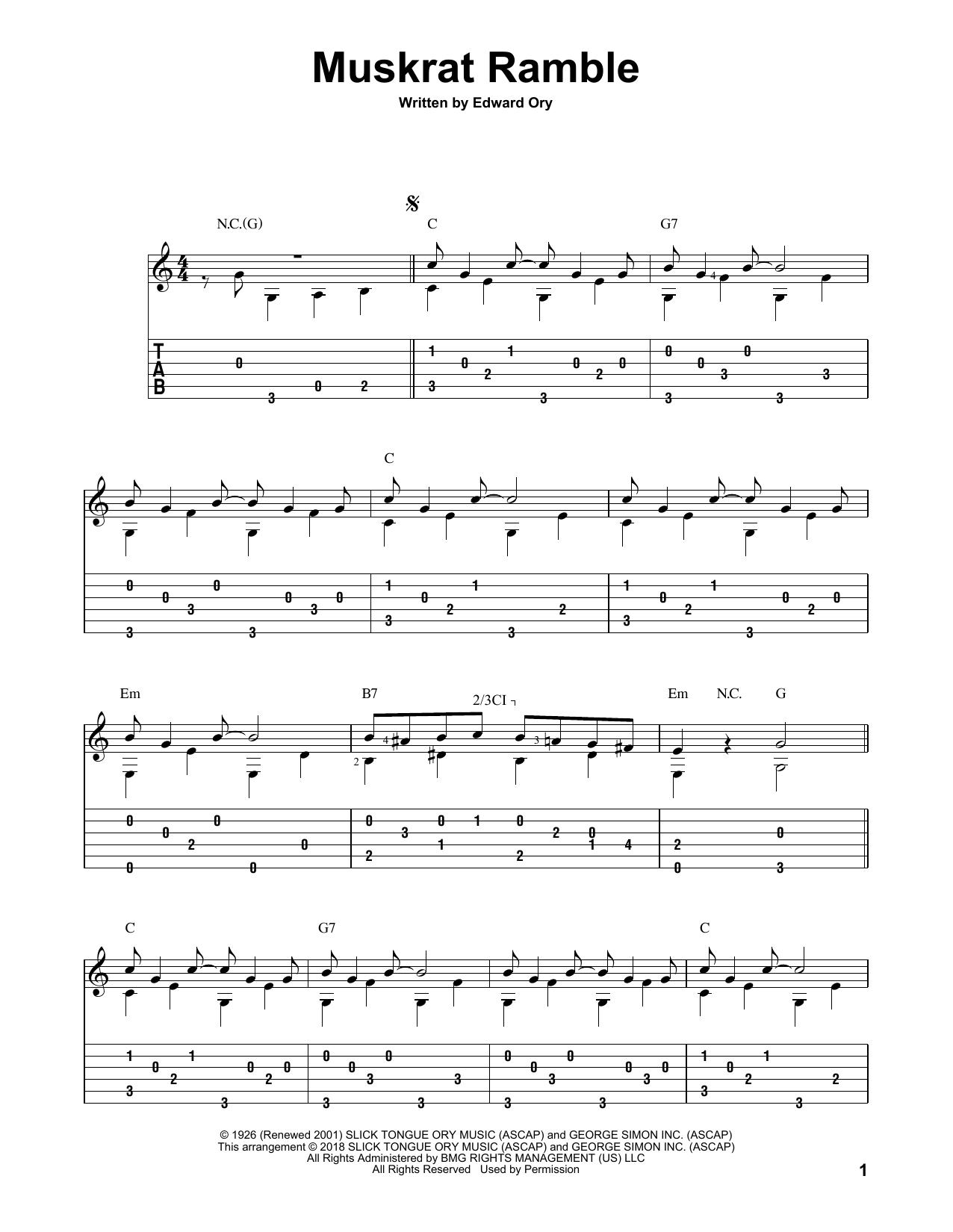 Muskrat Ramble (Solo Guitar Tab)