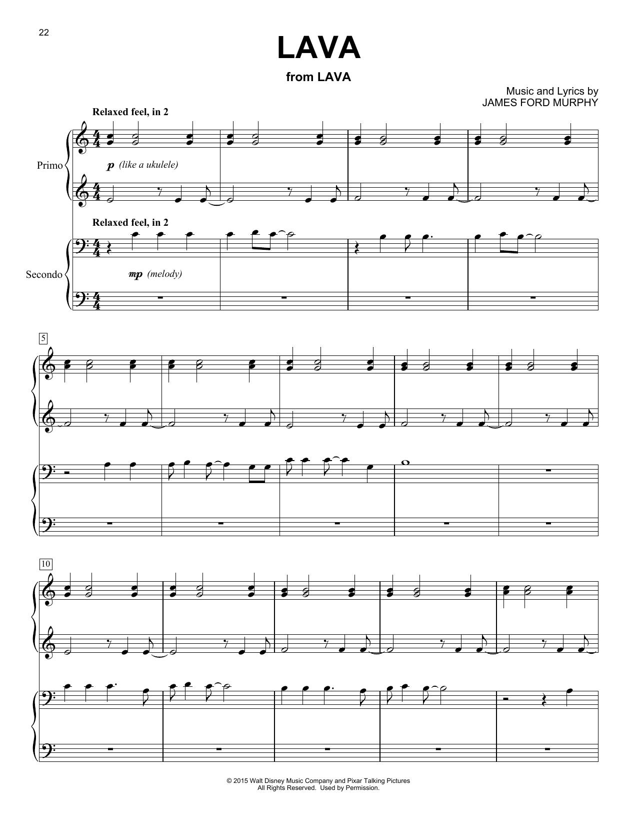 Lava (Piano Duet)