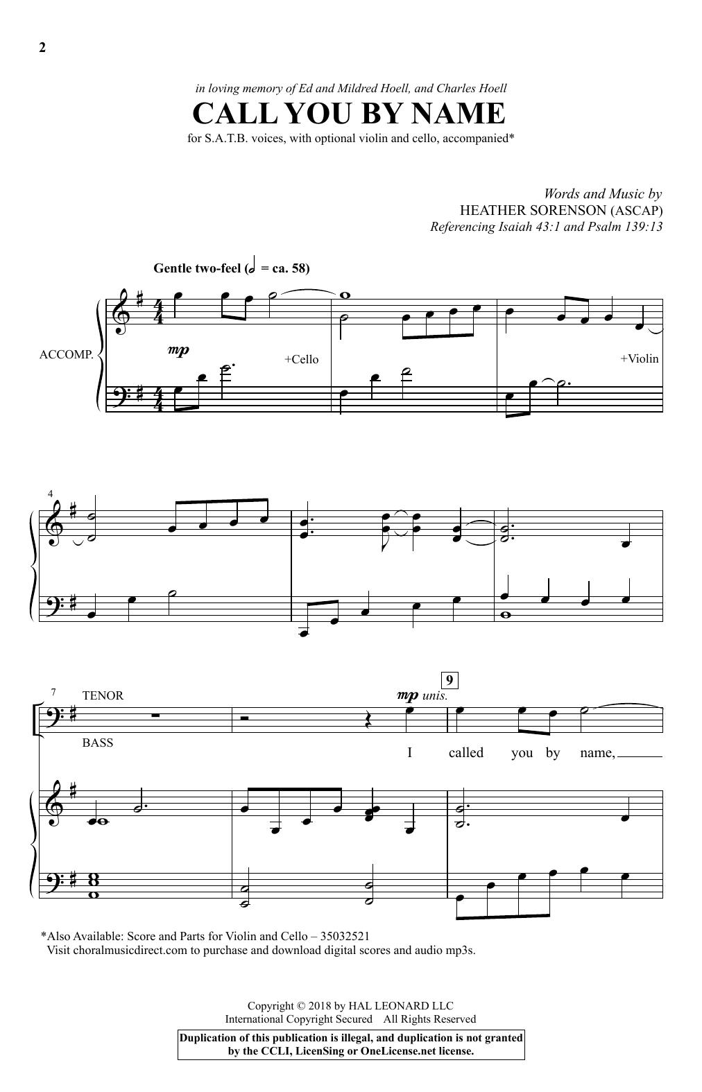 Call You By Name (SATB Choir)