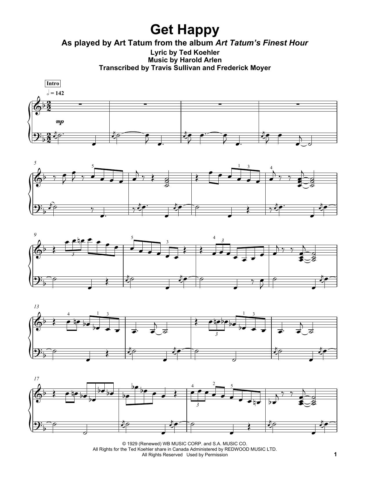 Get Happy (Piano Transcription)