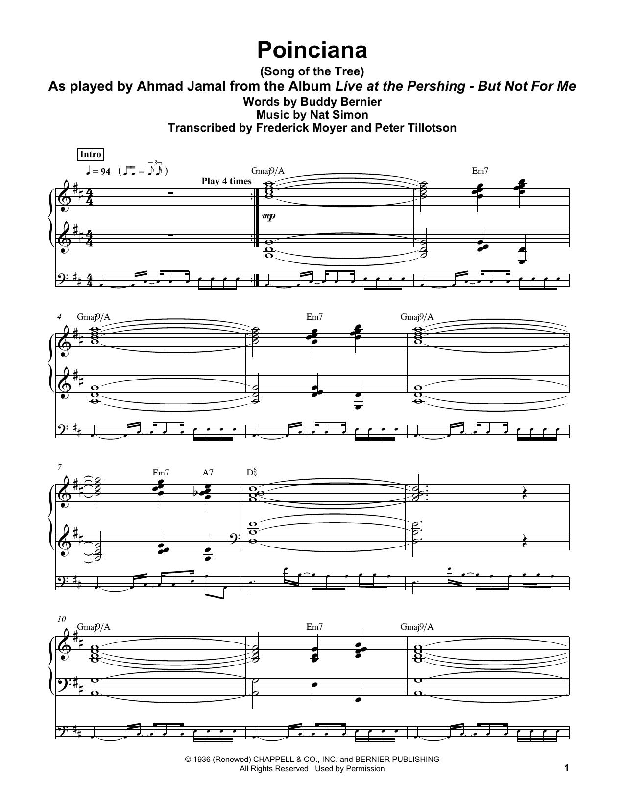 Poinciana (Song Of The Tree) (Piano Transcription)