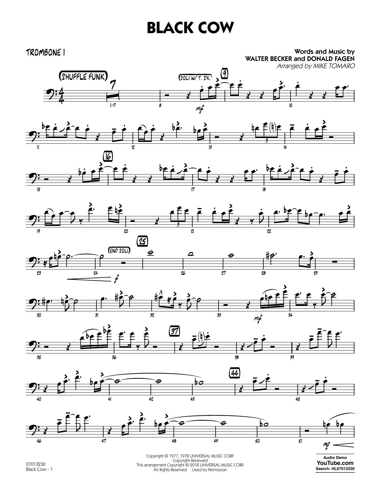 Black Cow (arr. Mike Tomaro) - Trombone 1 (Jazz Ensemble)
