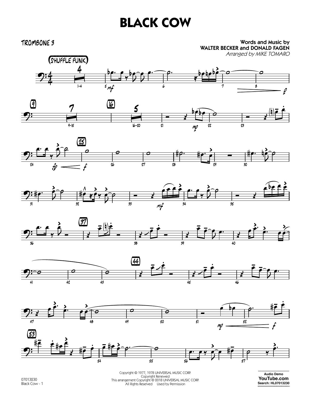 Black Cow (arr. Mike Tomaro) - Trombone 3 (Jazz Ensemble)