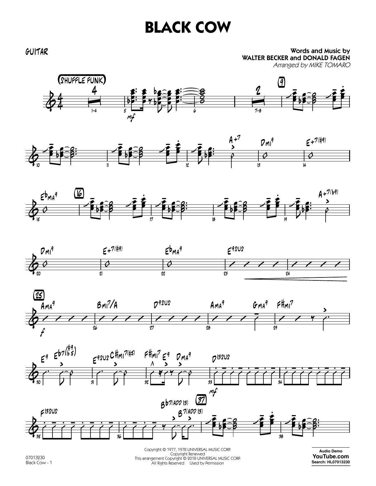 Black Cow (arr. Mike Tomaro) - Guitar (Jazz Ensemble)
