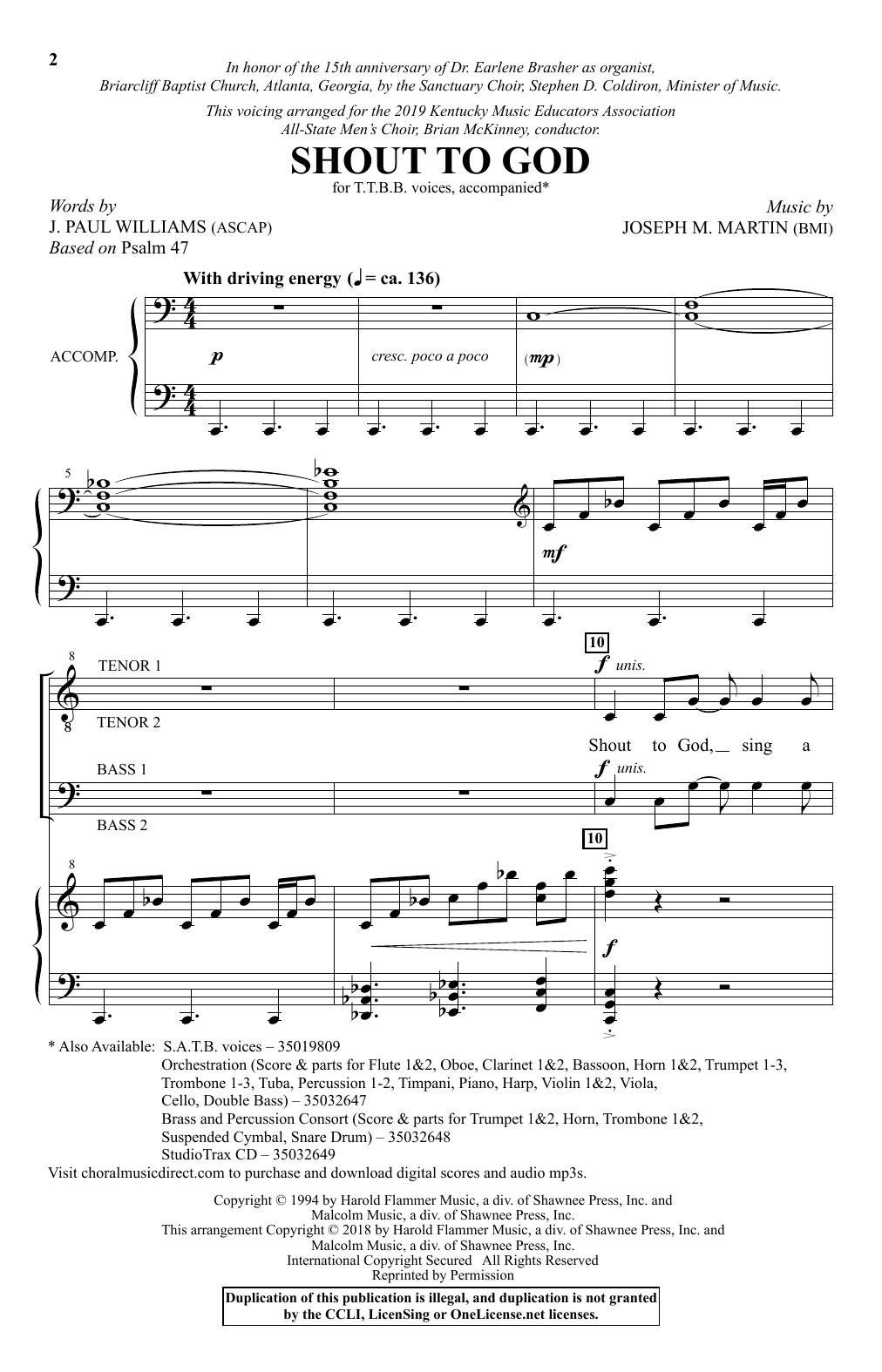Shout To God (TTBB Choir)