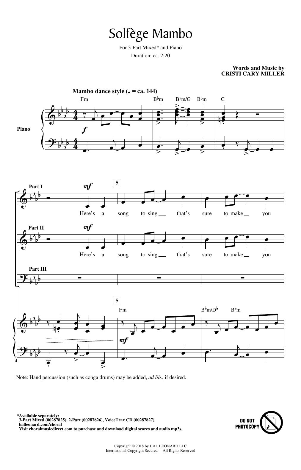 Solfege Mambo (3-Part Mixed Choir)