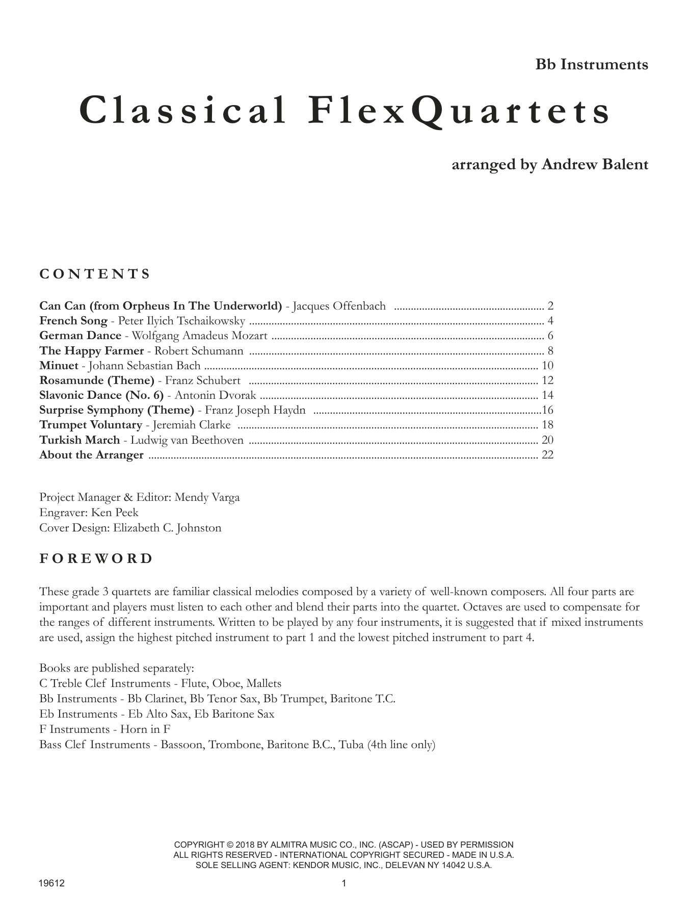 Classical Flexquartets - Bb Instruments Sheet Music