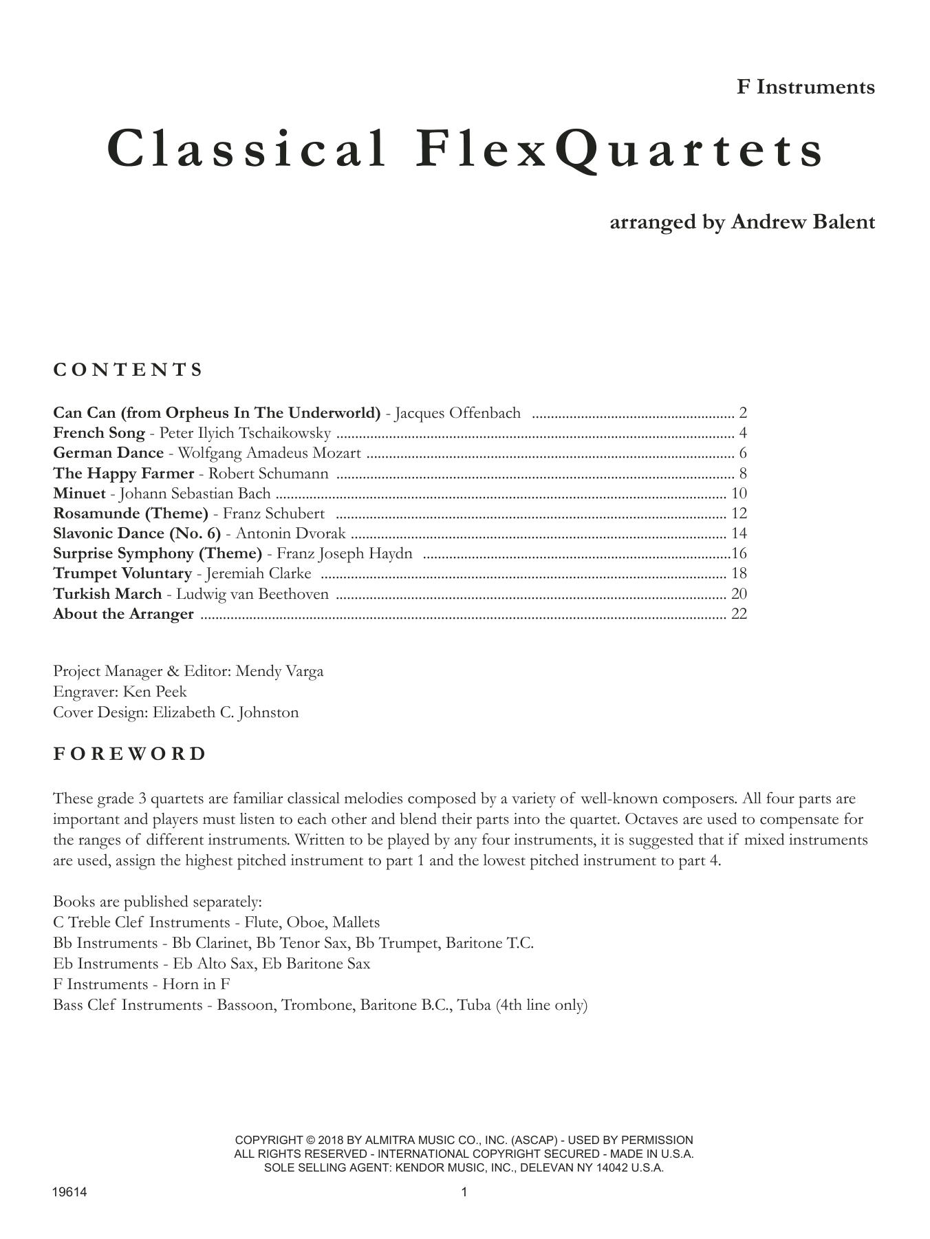 Classical Flexquartets - F Instruments Sheet Music