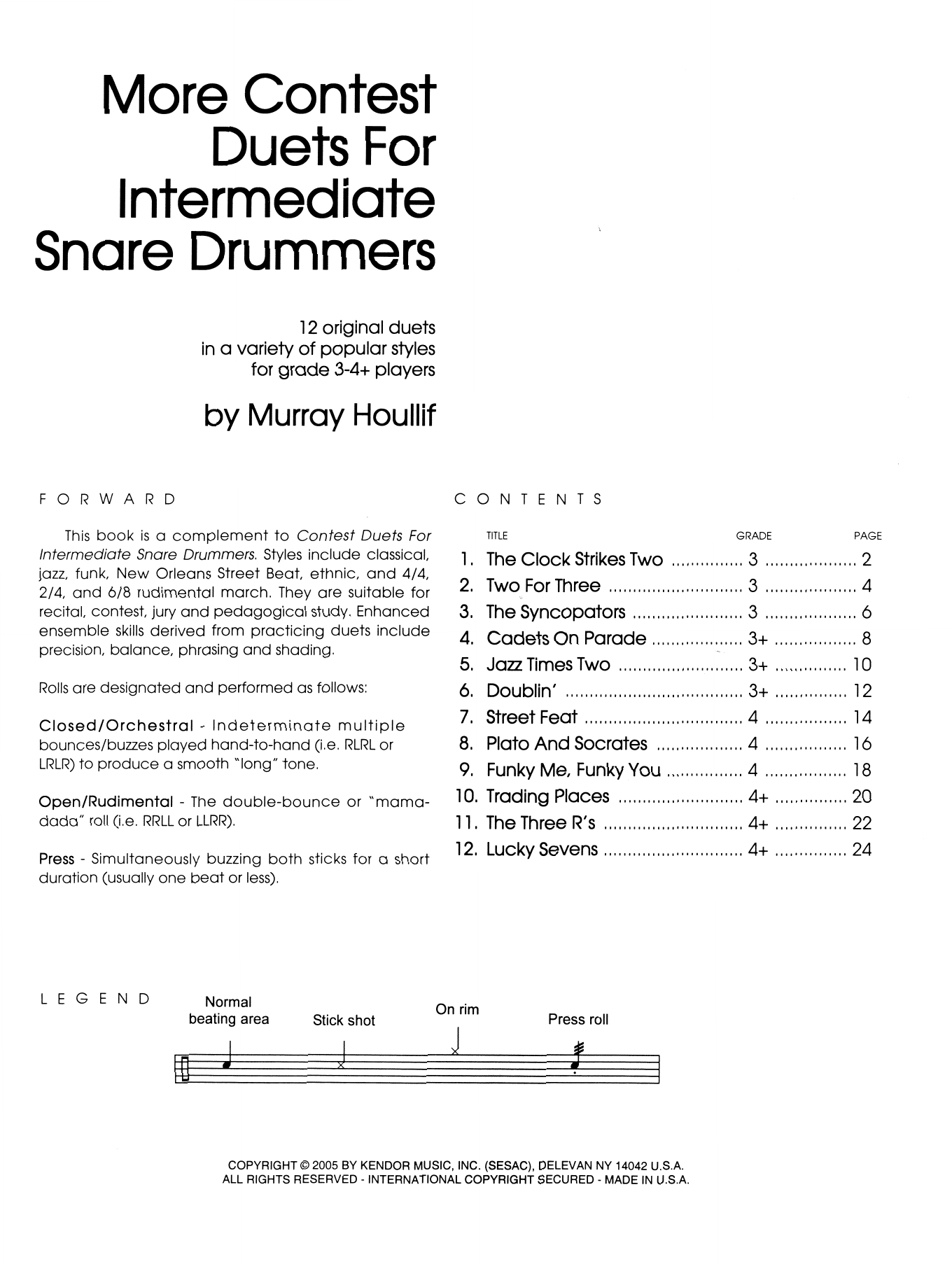 More Contest Duets For Intermediate Snare Drummers Sheet Music