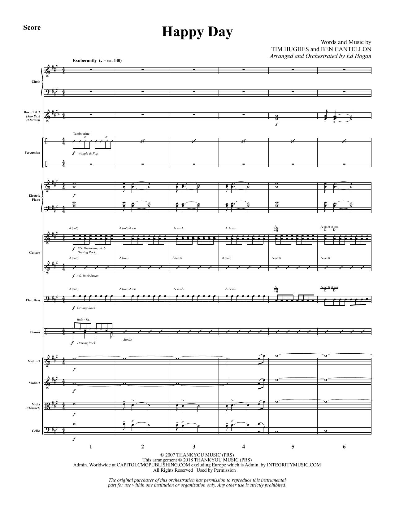 Happy Day (arr. Ed Hogan) - Full Score (Choir Instrumental Pak)
