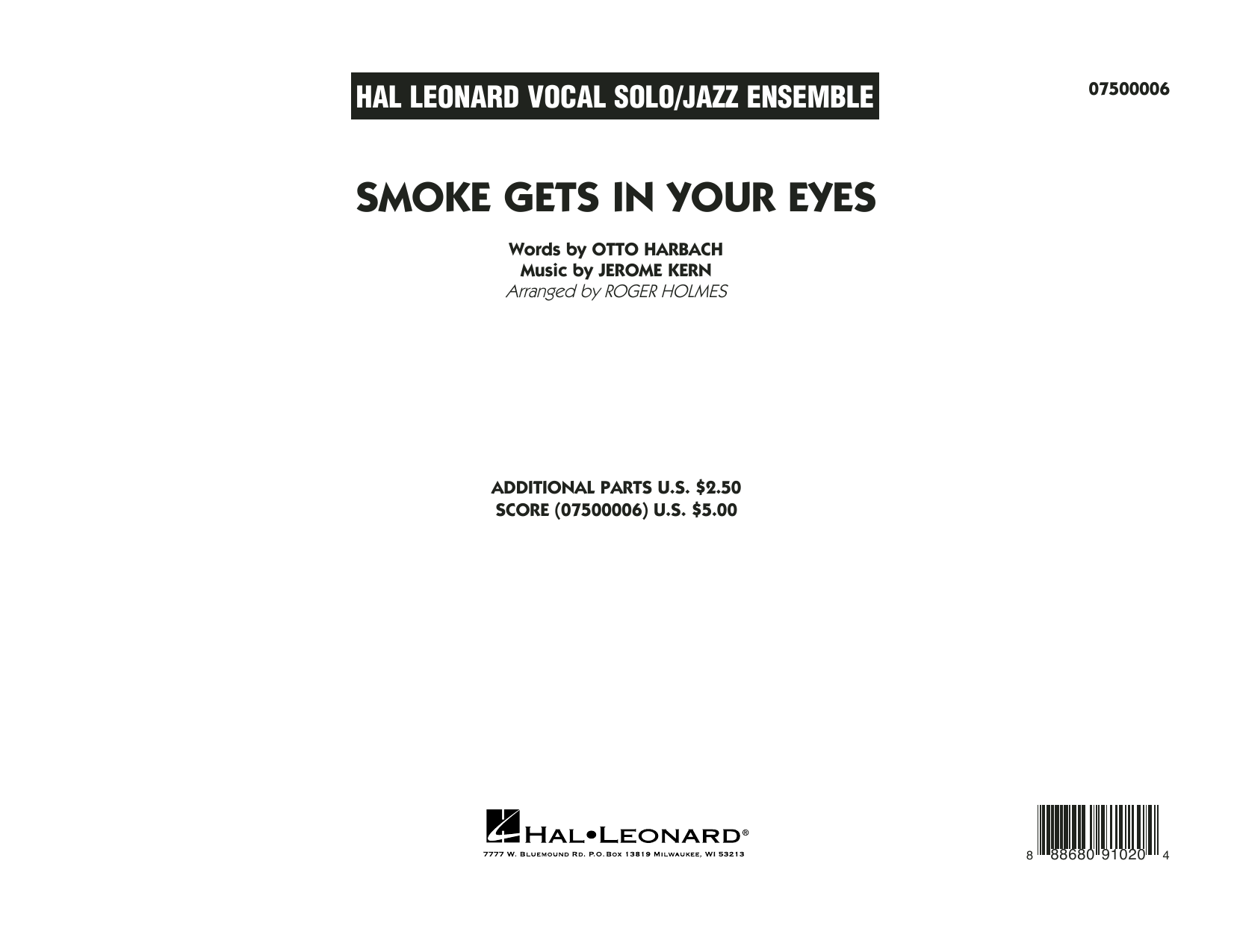 Smoke Gets In Your Eyes (arr. Roger Holmes) - Conductor Score (Full Score) (Jazz Ensemble)