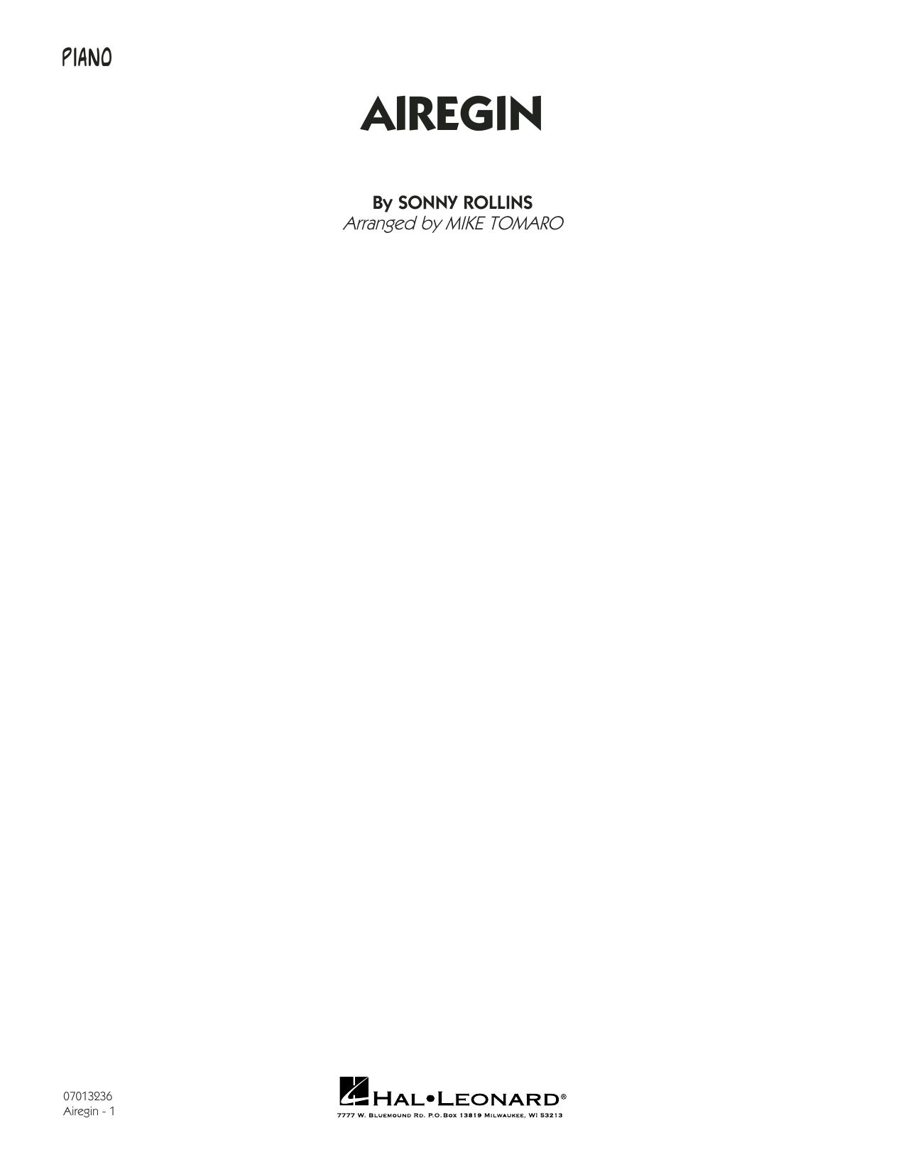 Airegin (arr. Mike Tomaro) - Piano (Jazz Ensemble)