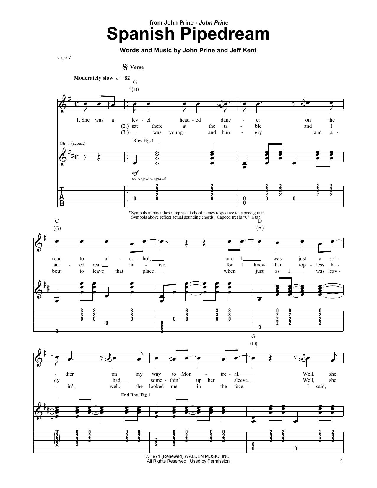 Spanish Pipedream (Guitar Tab)