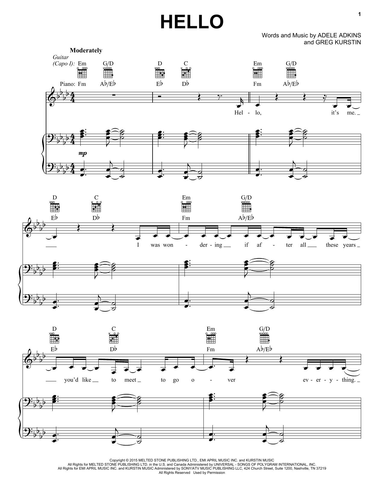 Hello (Vocal Pro + Piano/Guitar)