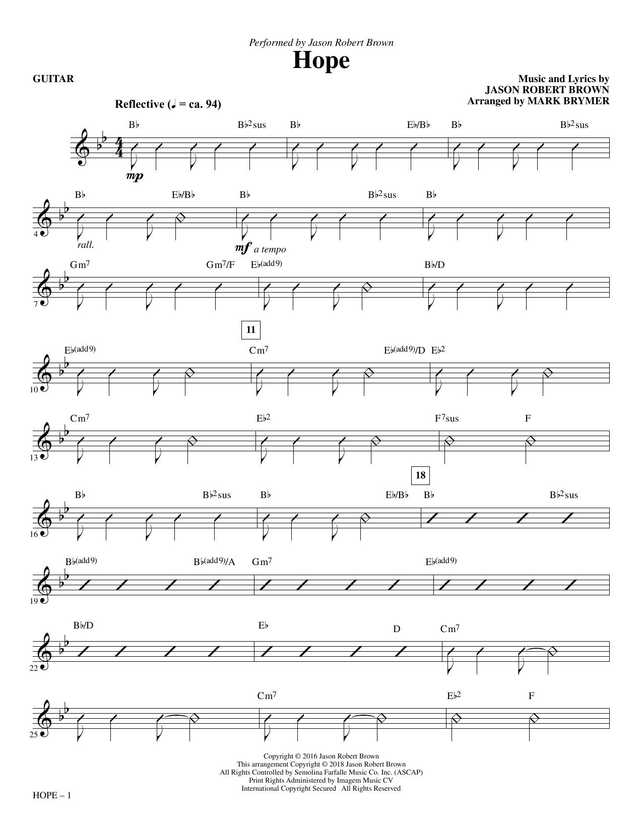 Hope (arr. Mark Brymer) - Guitar (Choir Instrumental Pak)
