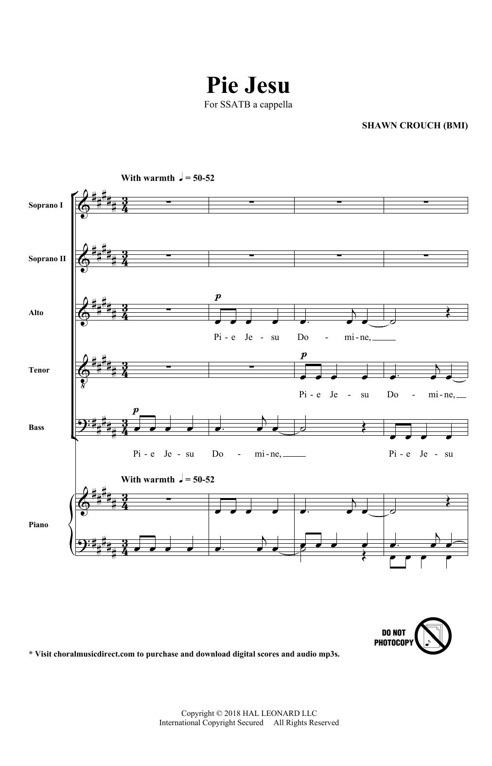 Pie Jesu (SATB Choir)