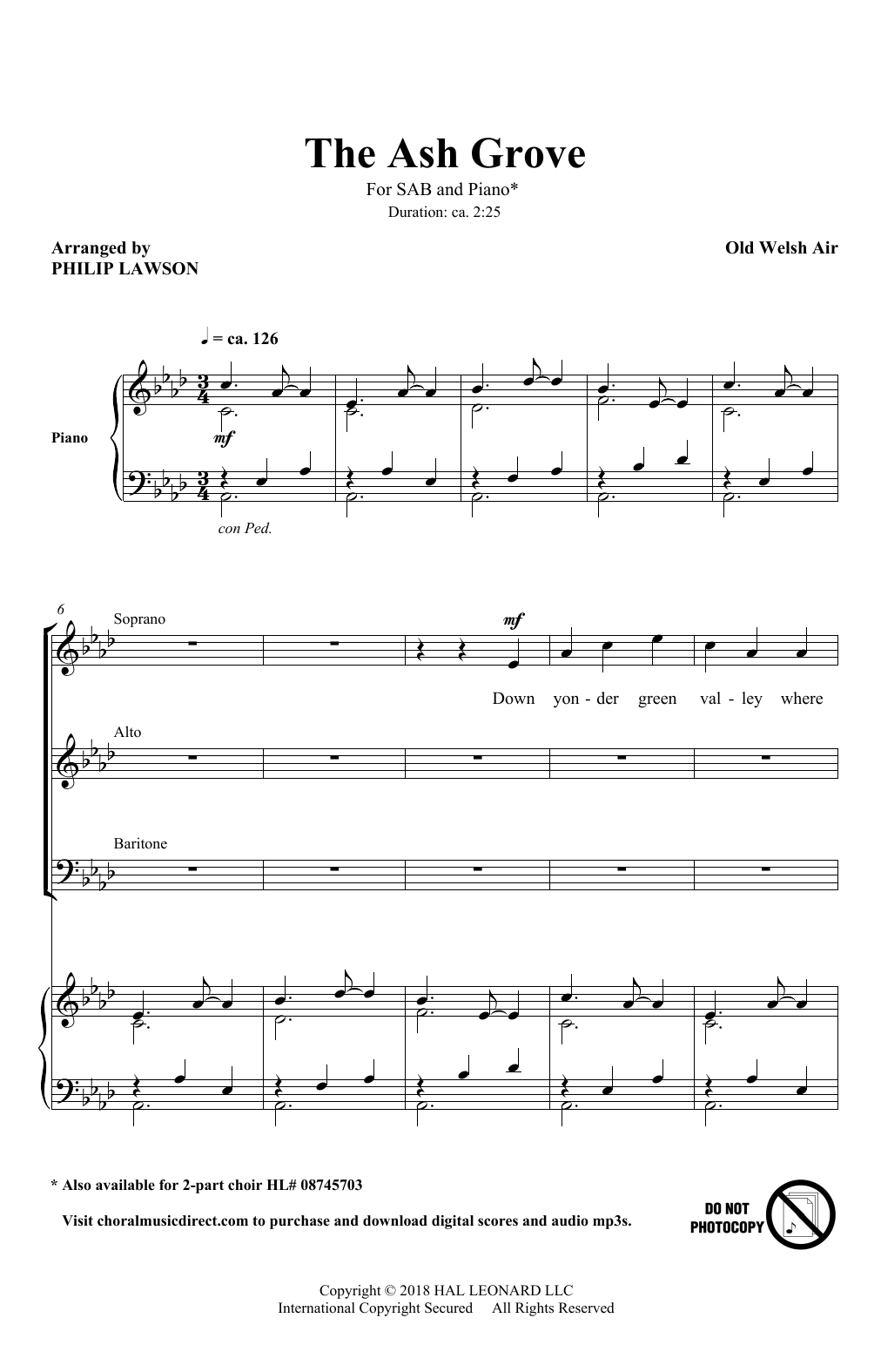 The Ash Grove (SAB Choir)