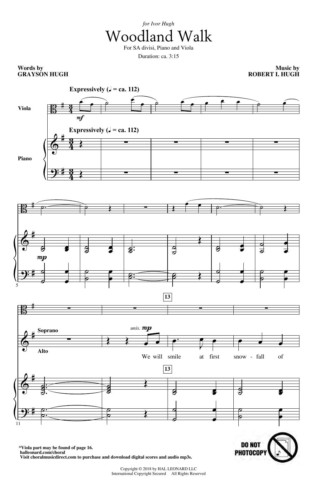 Woodland Walk (2-Part Choir)