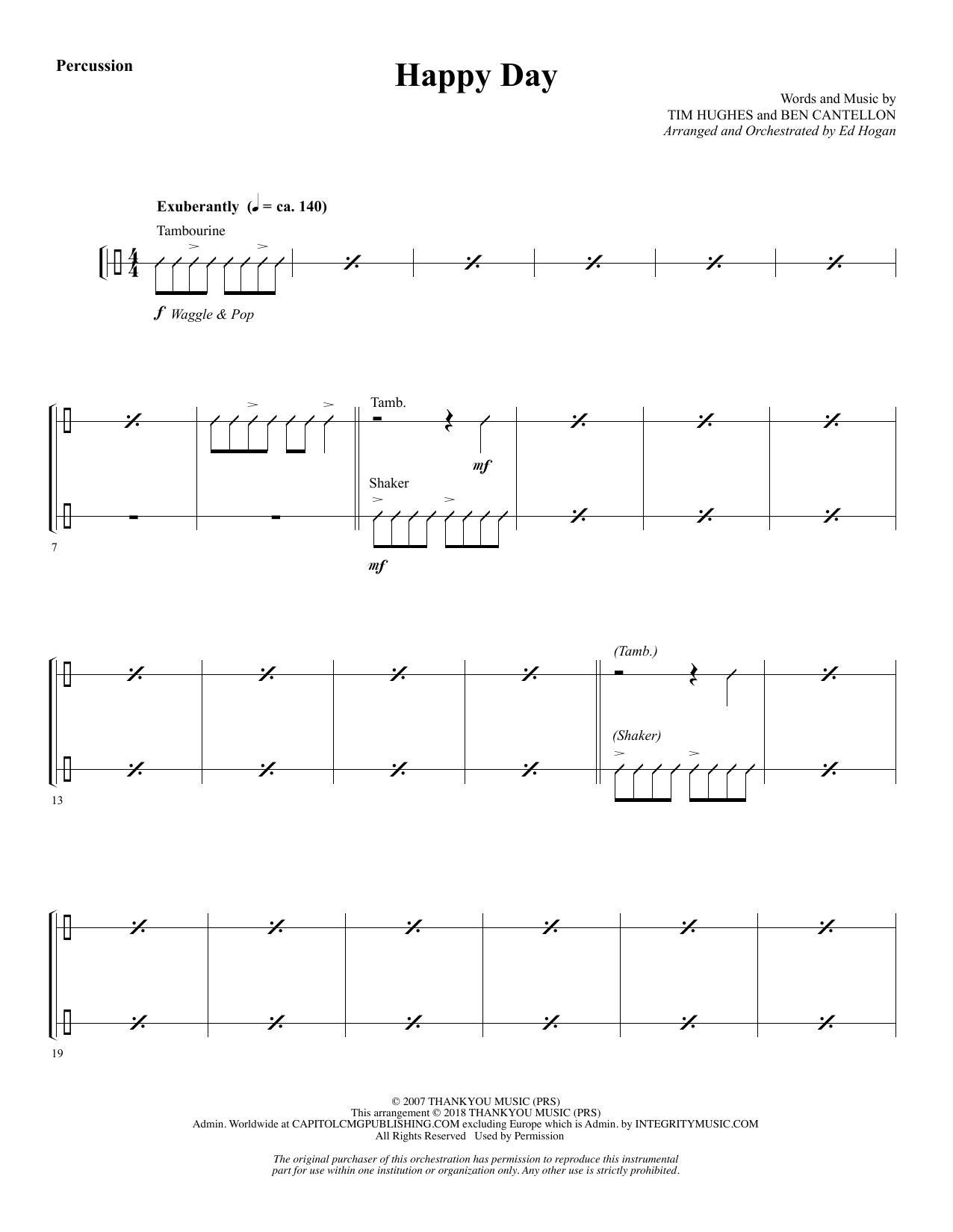 Happy Day (arr. Ed Hogan) - Percussion 1 & 2 (Choir Instrumental Pak)