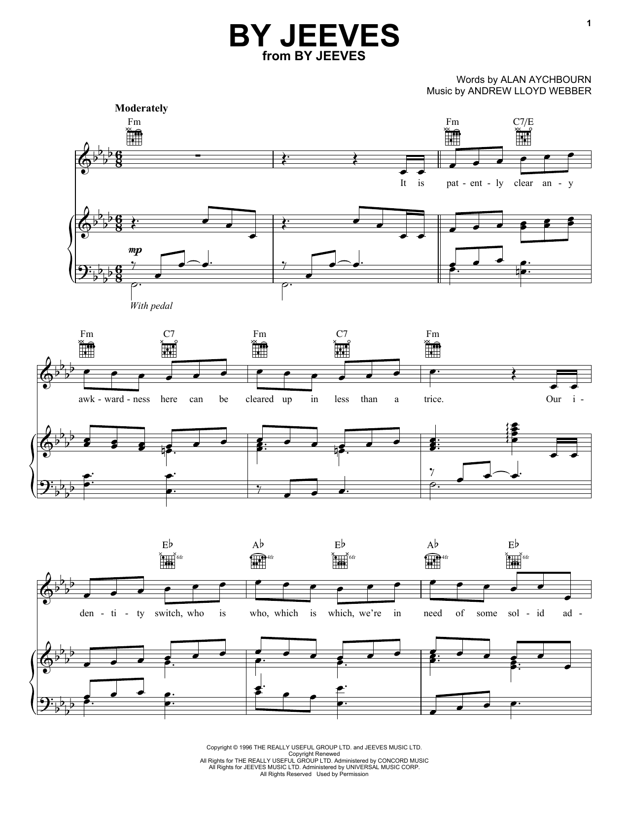 By Jeeves (Piano, Vocal & Guitar (Right-Hand Melody))