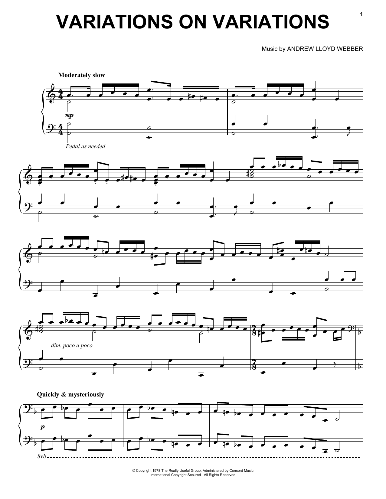 Variations On Variations (Piano Solo)