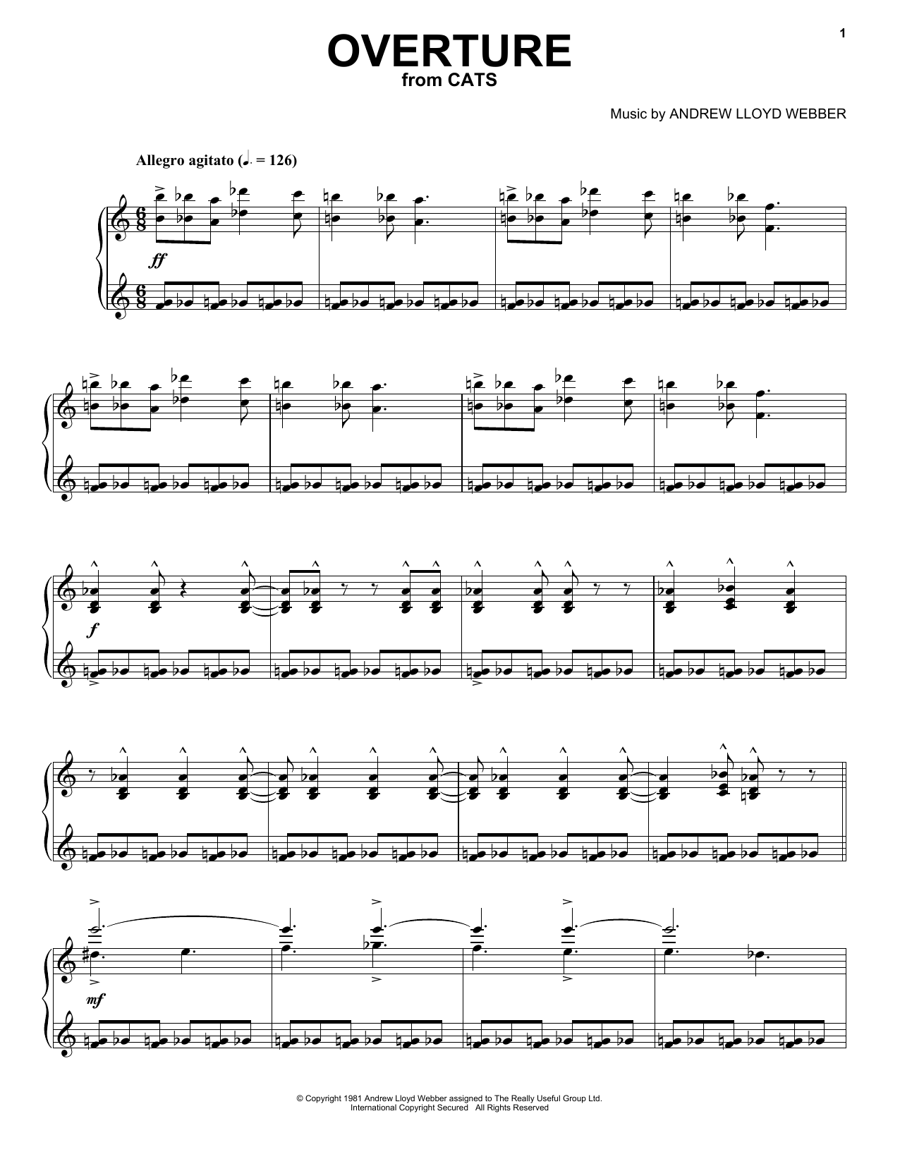 Overture (Piano, Vocal & Guitar (Right-Hand Melody))