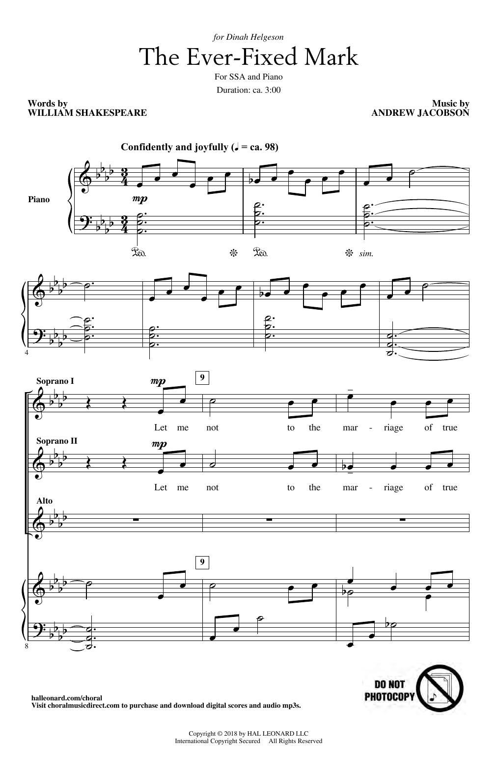 The Ever Fixed Mark (SSA Choir)