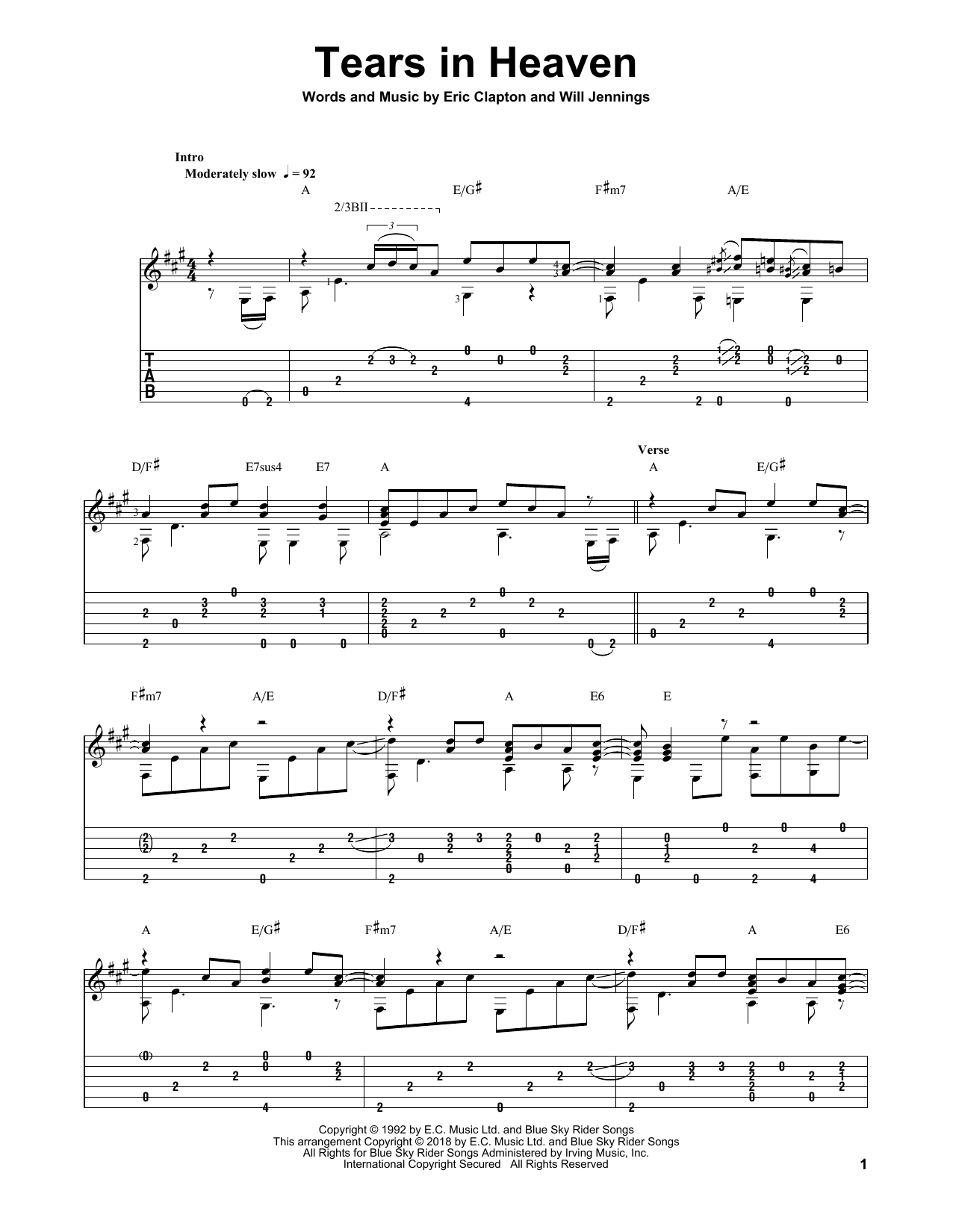 Tears In Heaven (Solo Guitar)