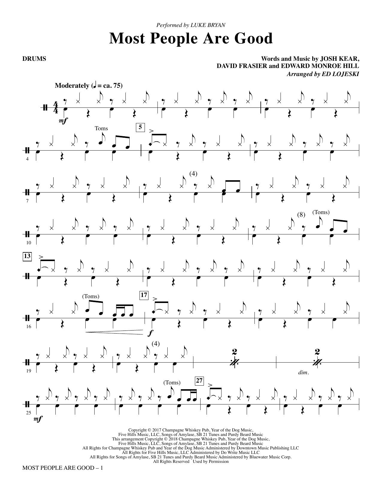 Most People Are Good  (arr. Ed Lojeski) - Drums (Choir Instrumental Pak)