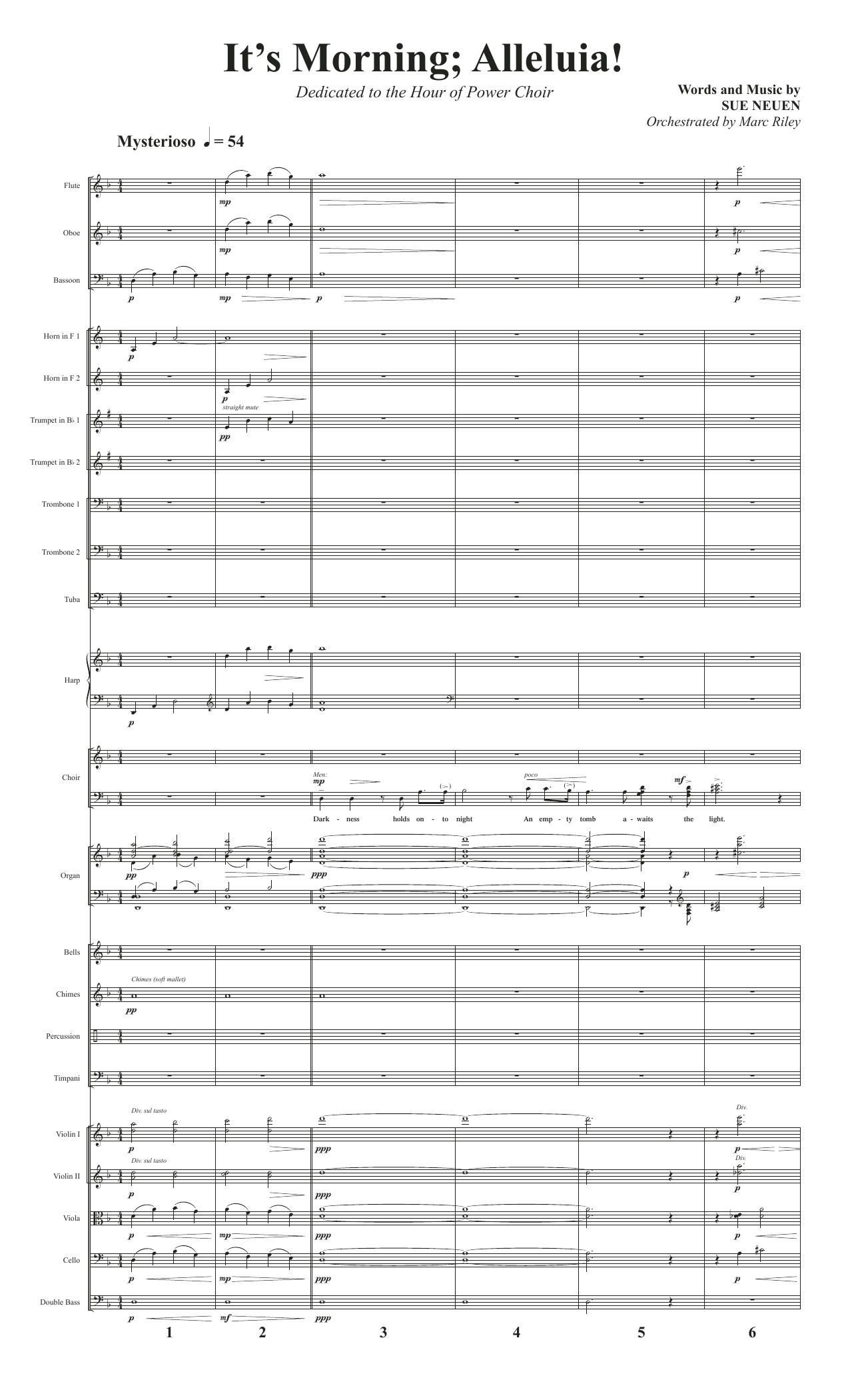 It's Morning; Alleluia! - Full Score (Choir Instrumental Pak)