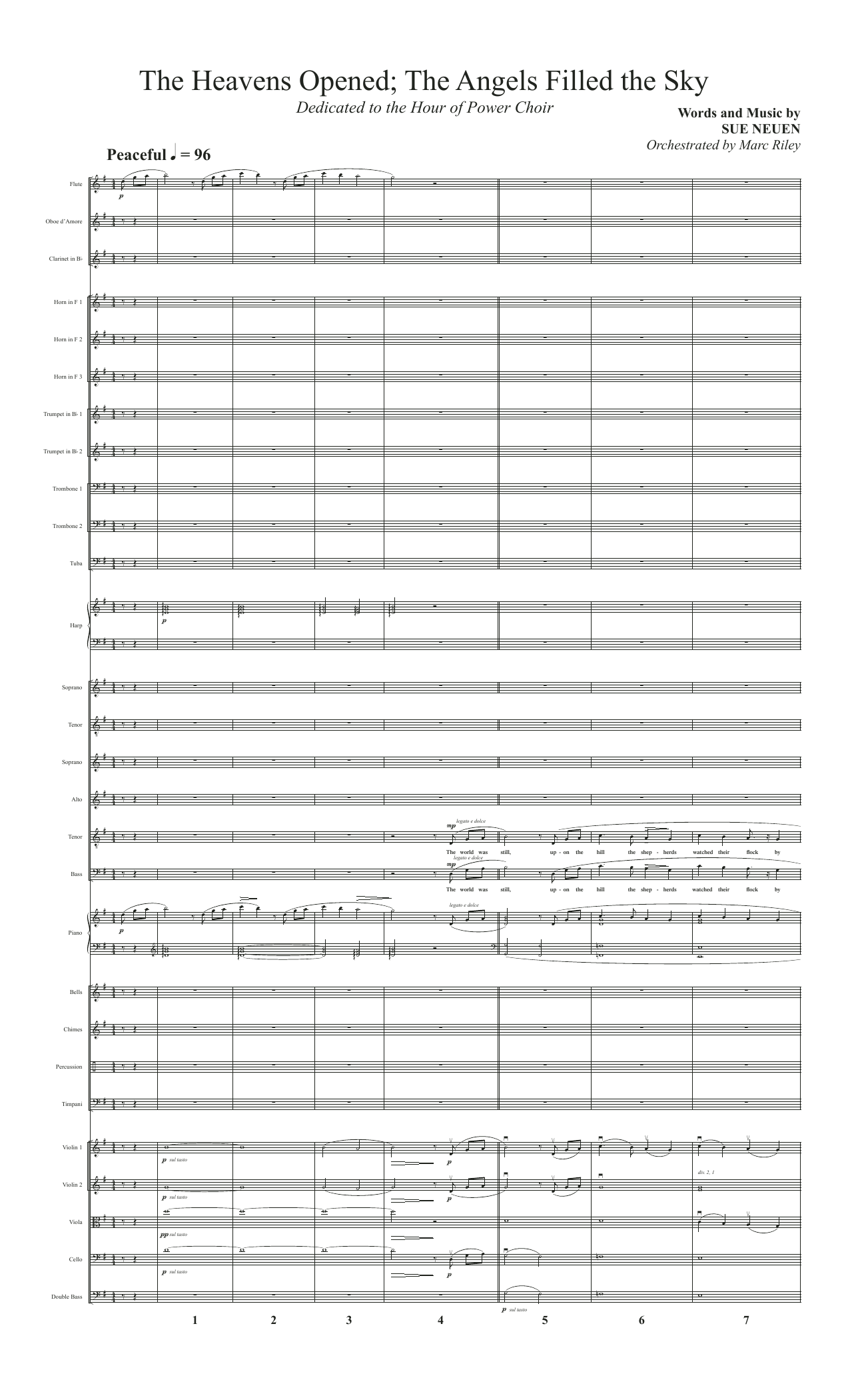 The Heavens Opened; The Angels Filled the Sky - Full Score (Choir Instrumental Pak)