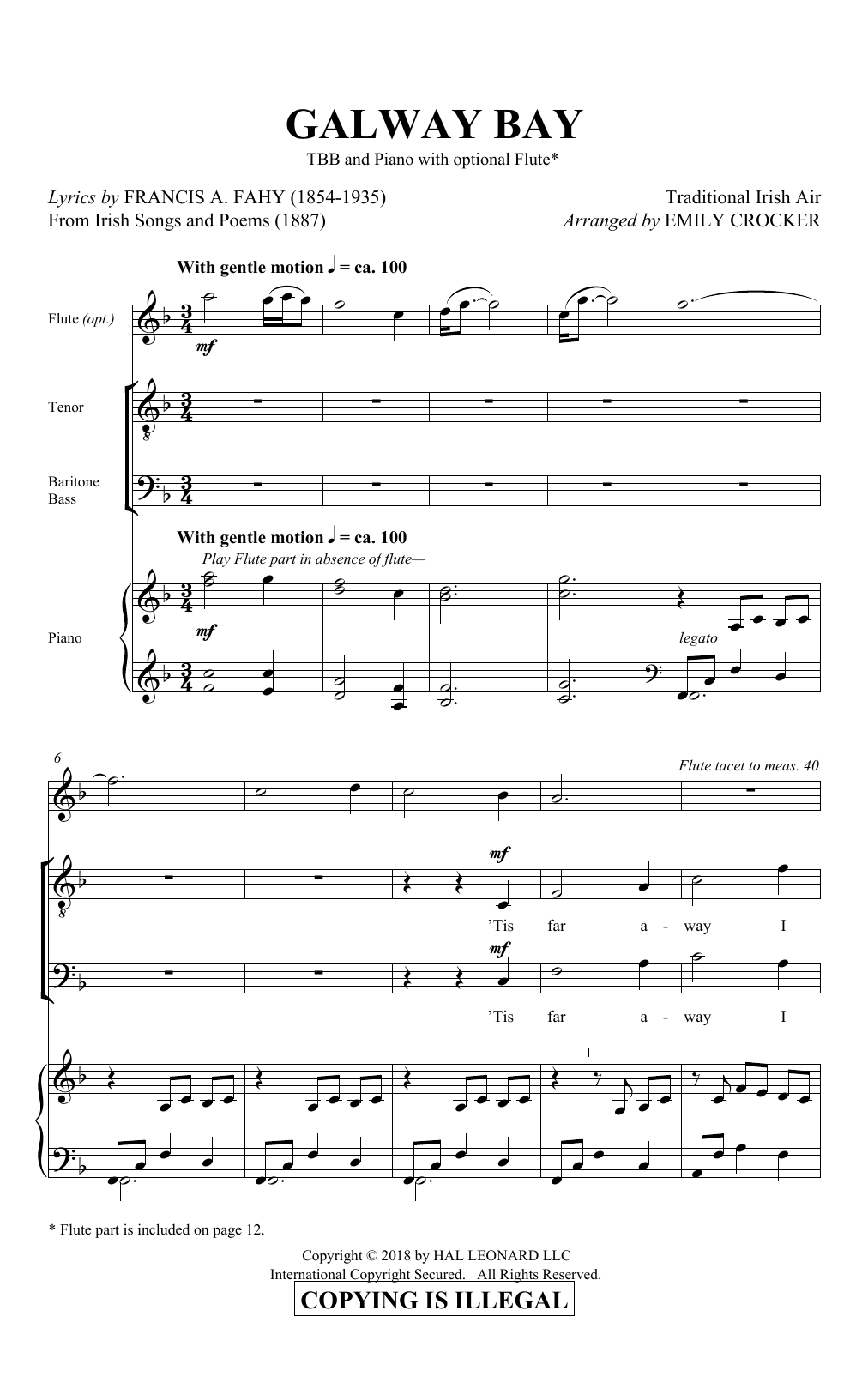 Galway Bay (TBB Choir)