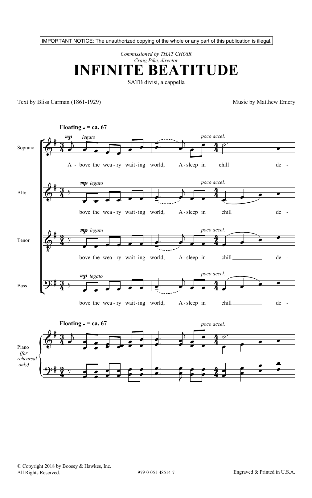 Infinite Beatitude (SATB Choir)