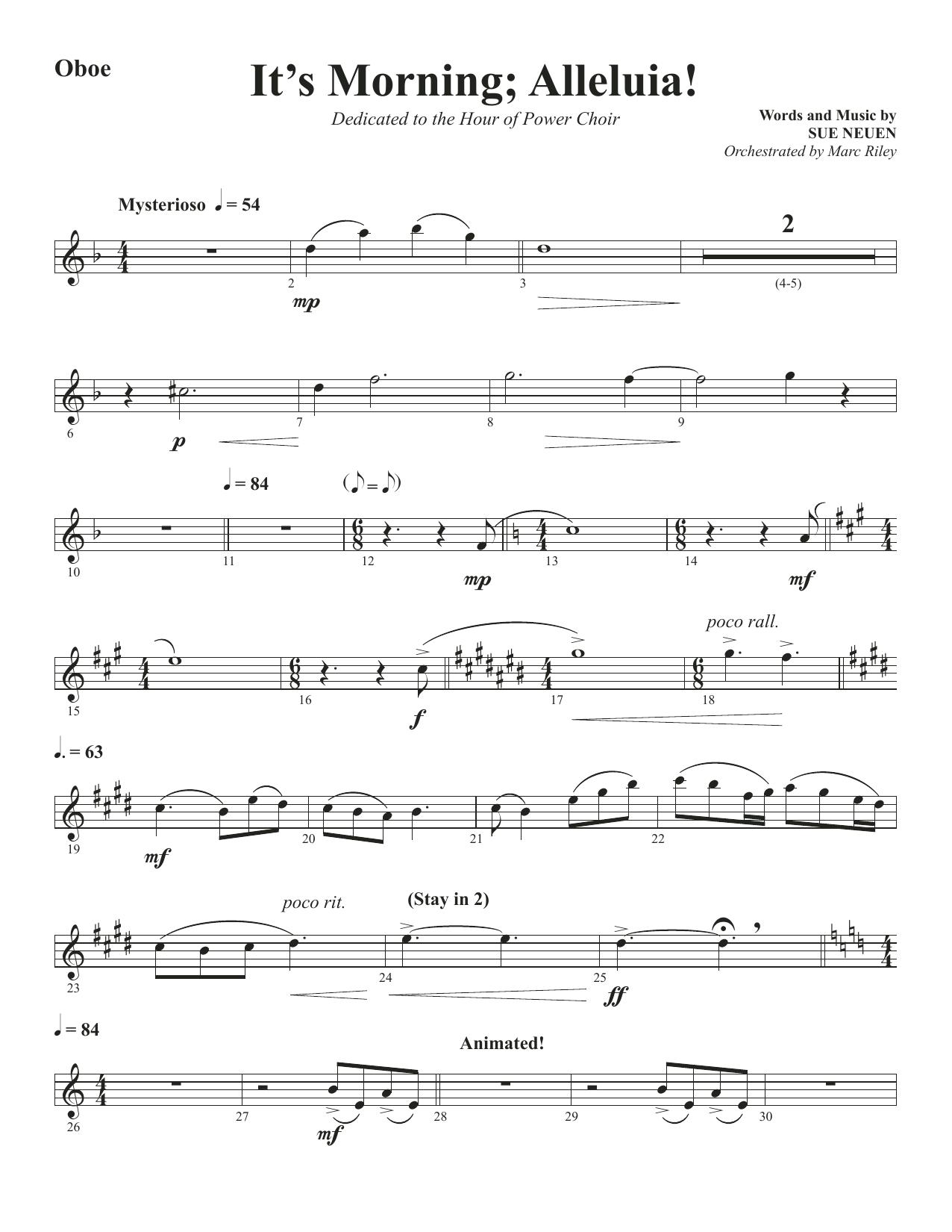 It's Morning; Alleluia! - Oboe (Choir Instrumental Pak)