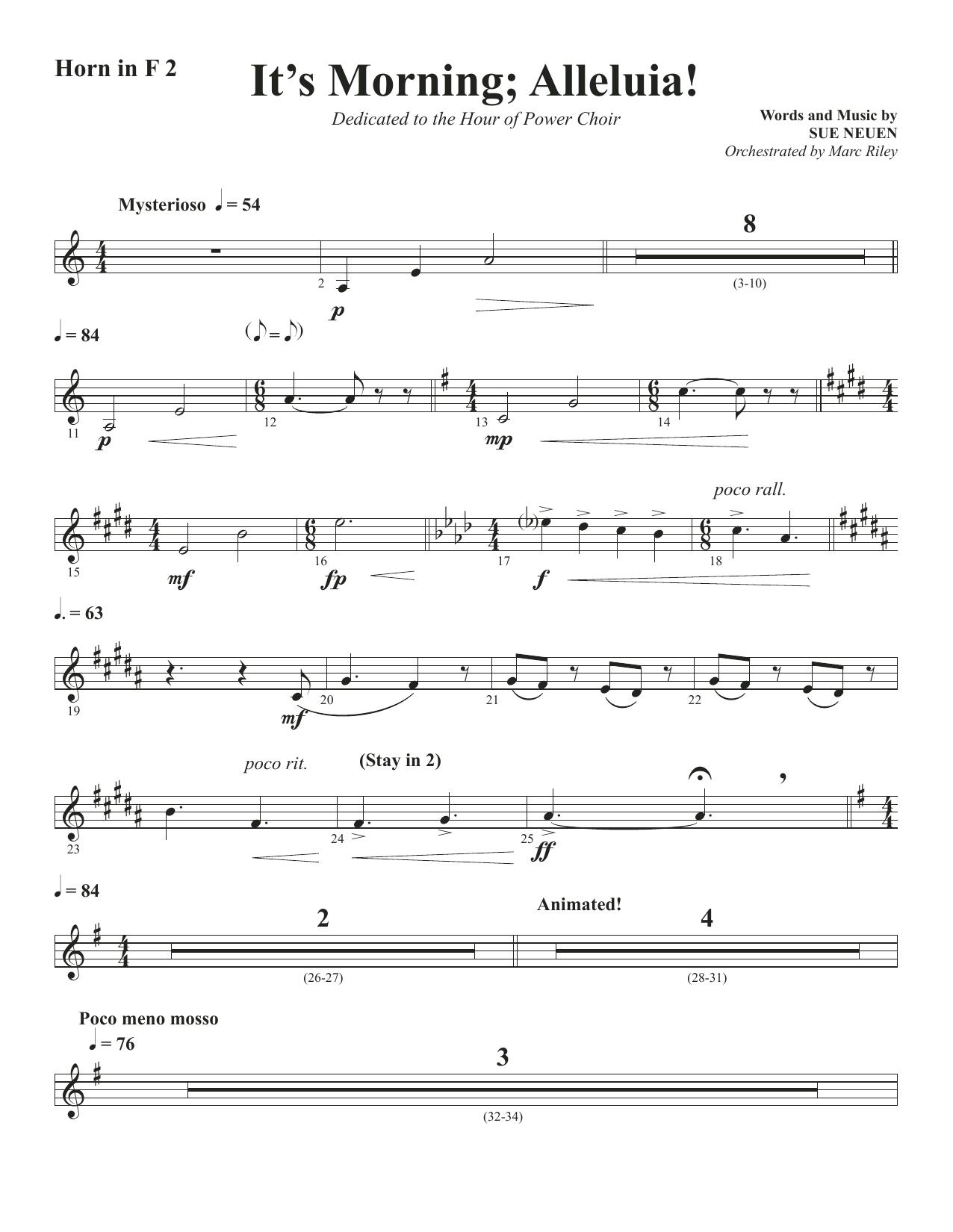 It's Morning; Alleluia! - Horn 2 in F (Choir Instrumental Pak)