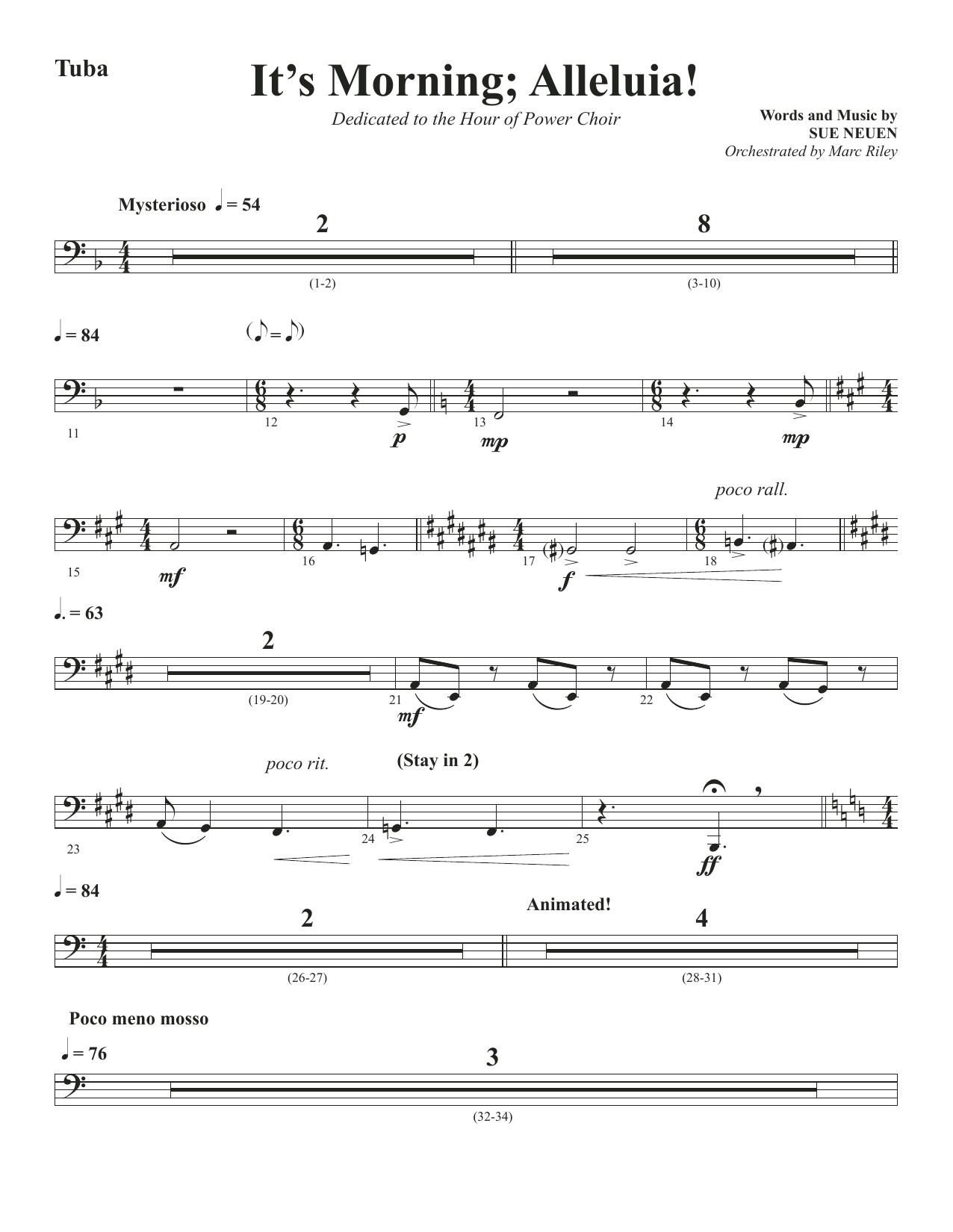 It's Morning; Alleluia! - Tuba (Choir Instrumental Pak)
