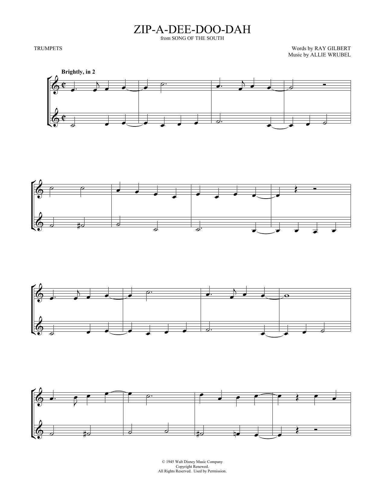 Zip-A-Dee-Doo-Dah (Trumpet Duet)