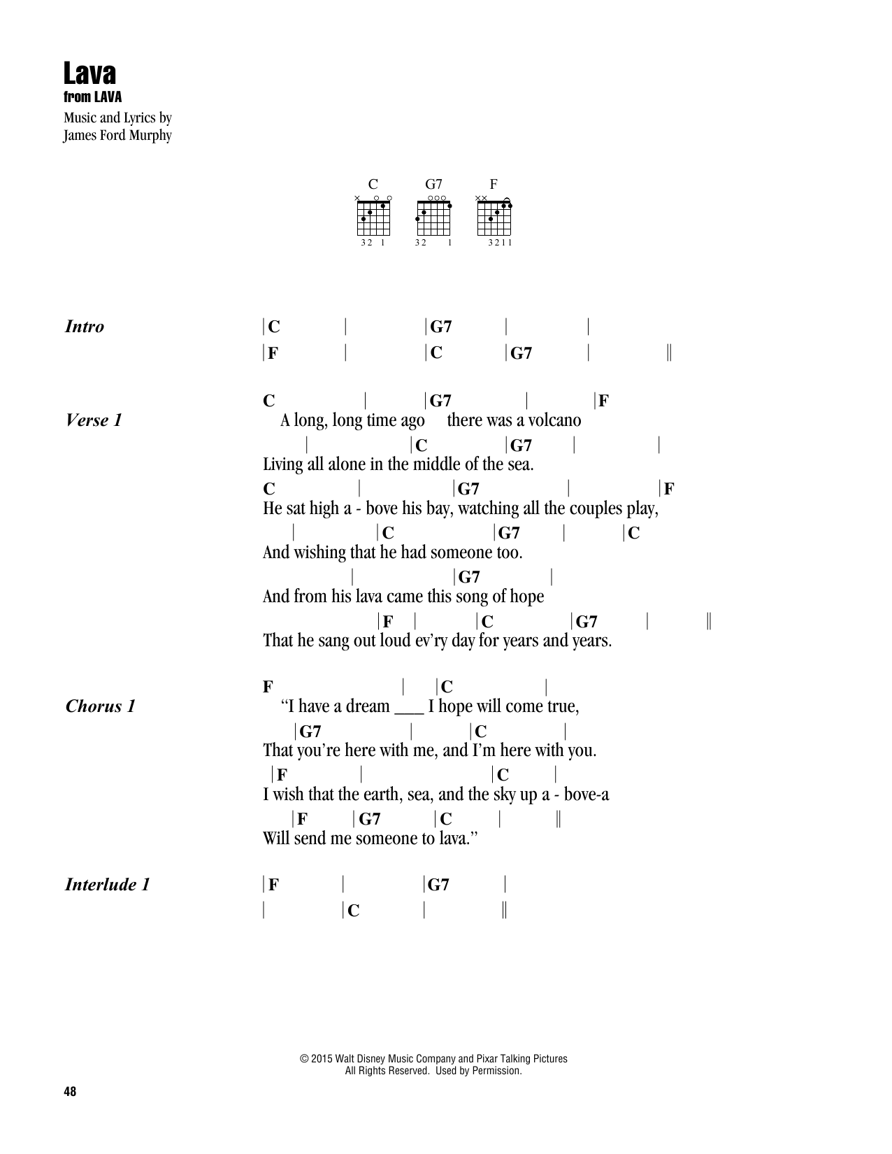 Lava (Guitar Chords/Lyrics)