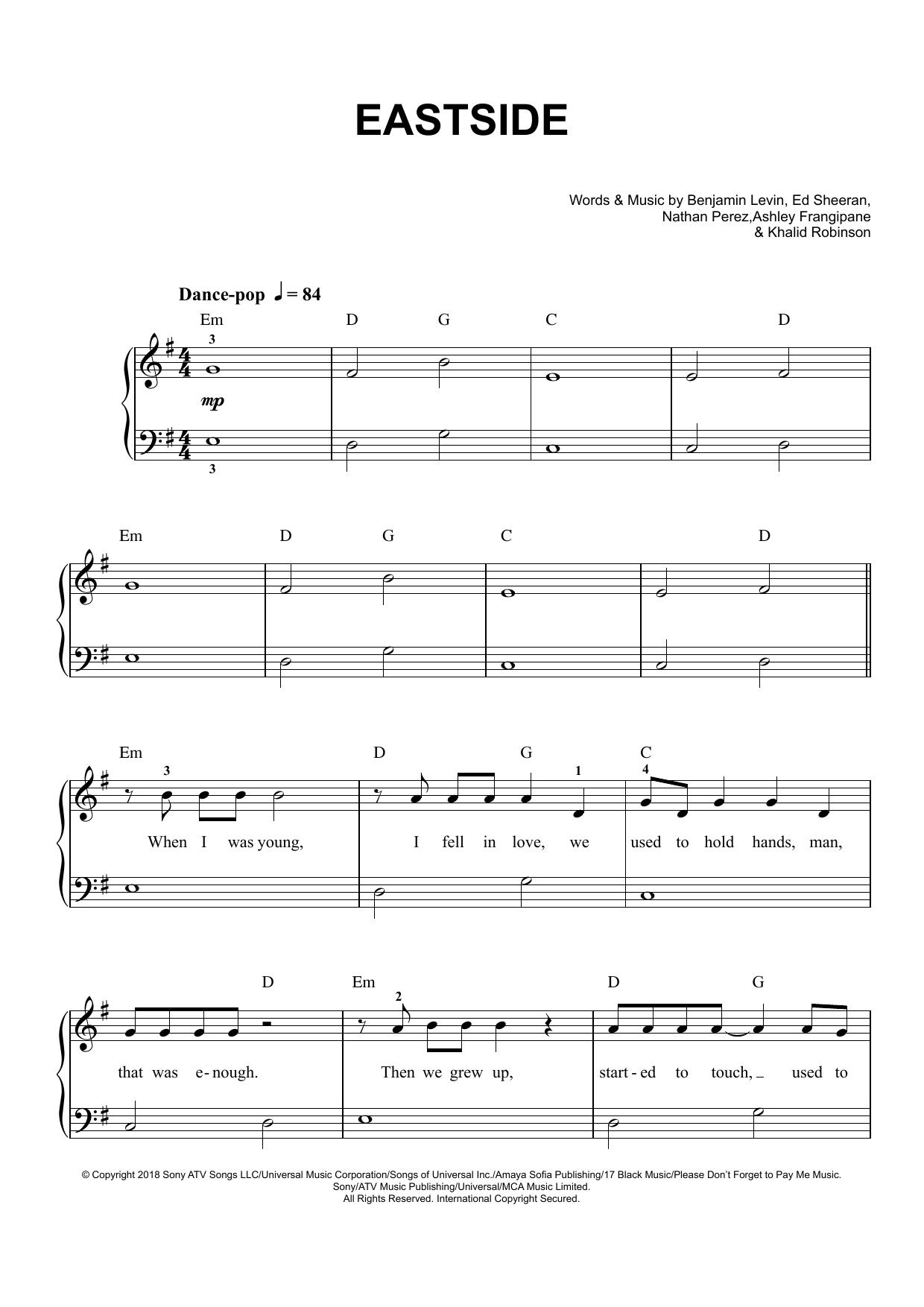 Eastside (Easy Piano)