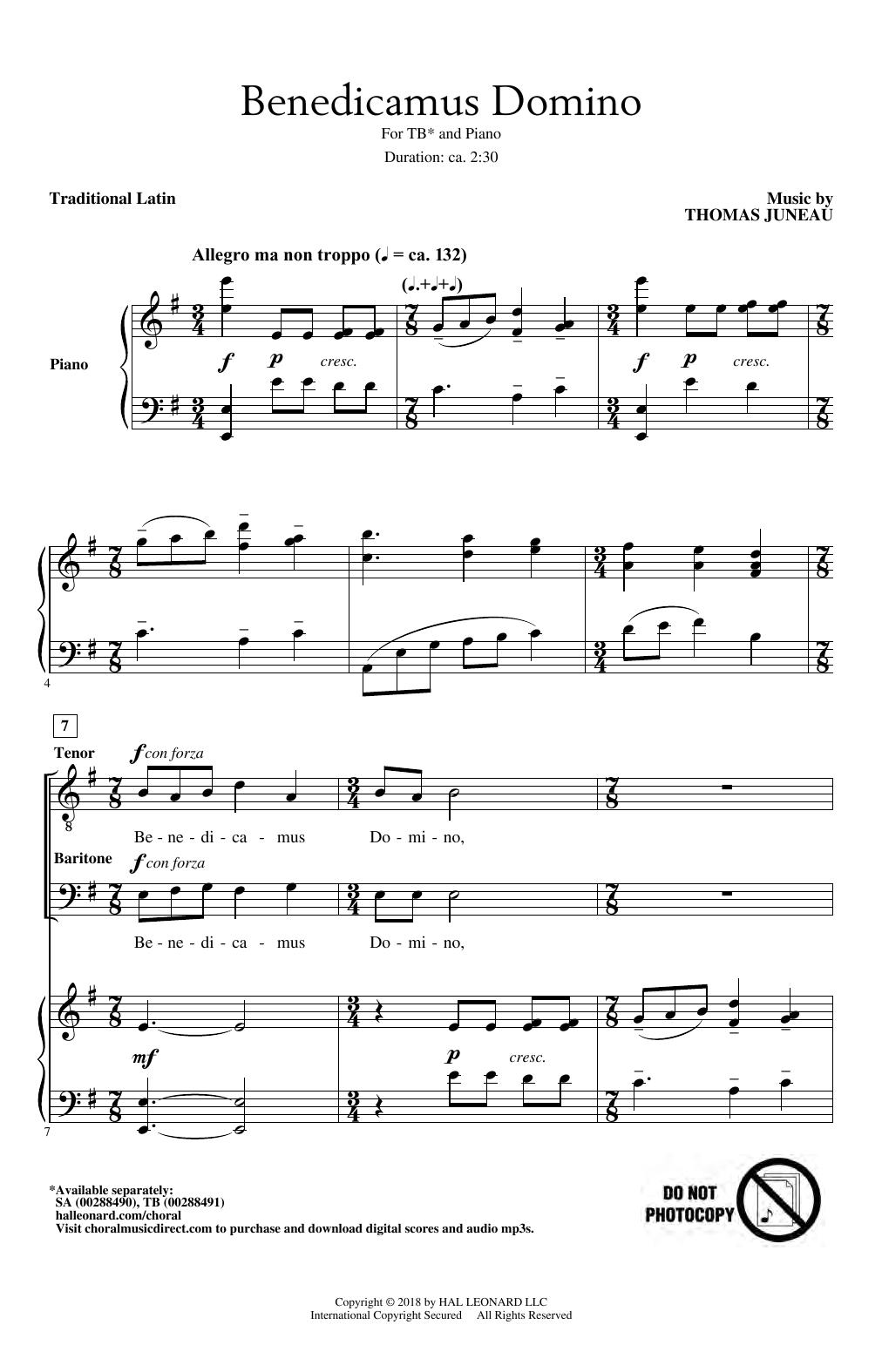 Benedicamus Domino (TB Choir)