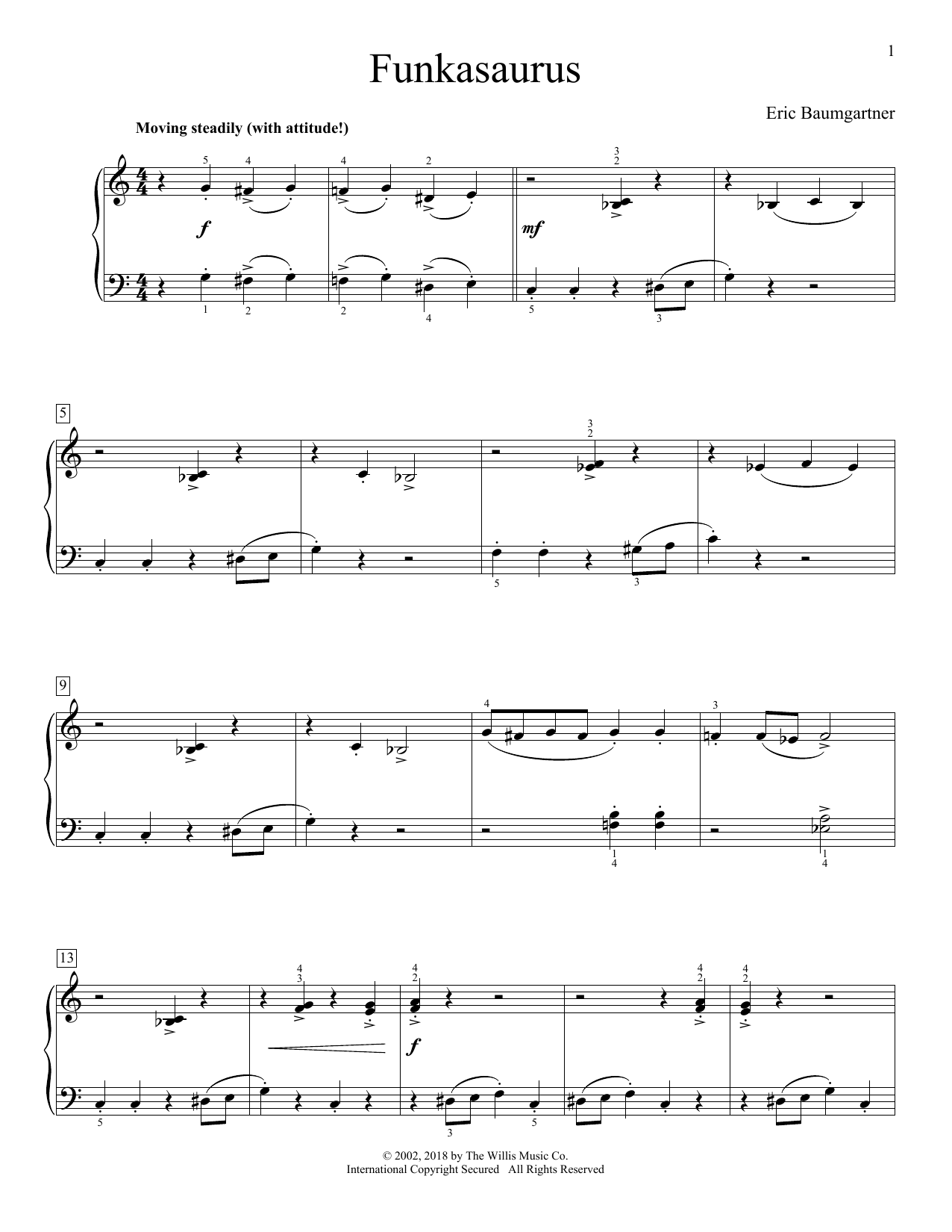 Funkasaurus (Educational Piano)