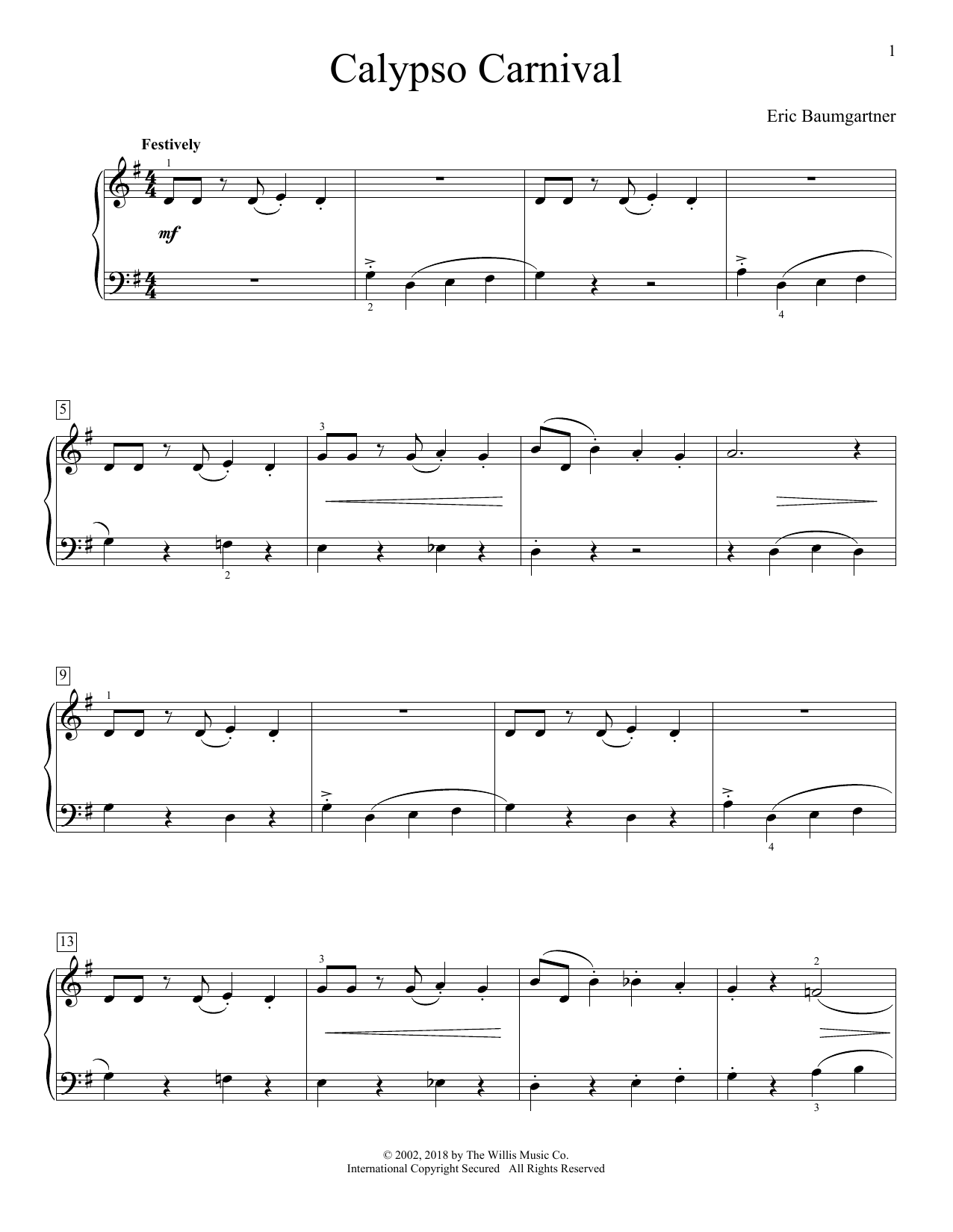Calypso Carnival (Educational Piano)