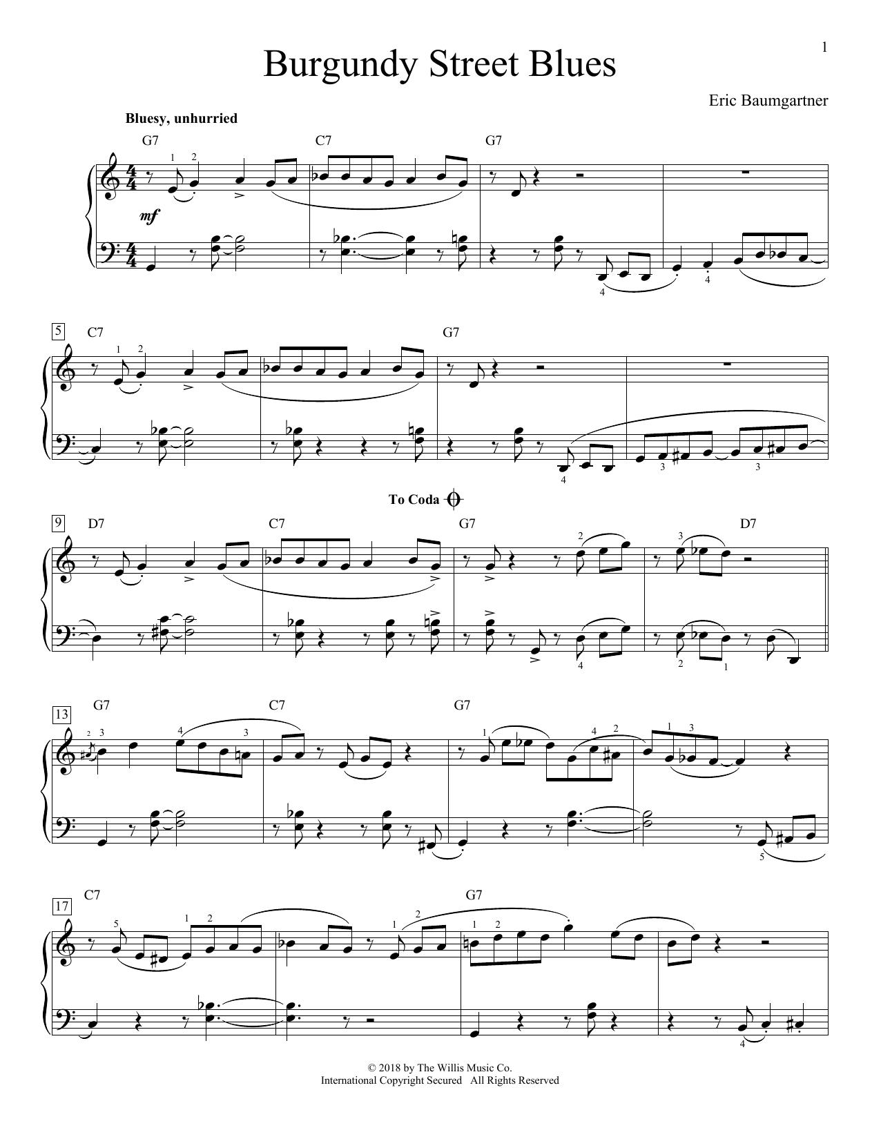 Burgundy Street Blues (Educational Piano)