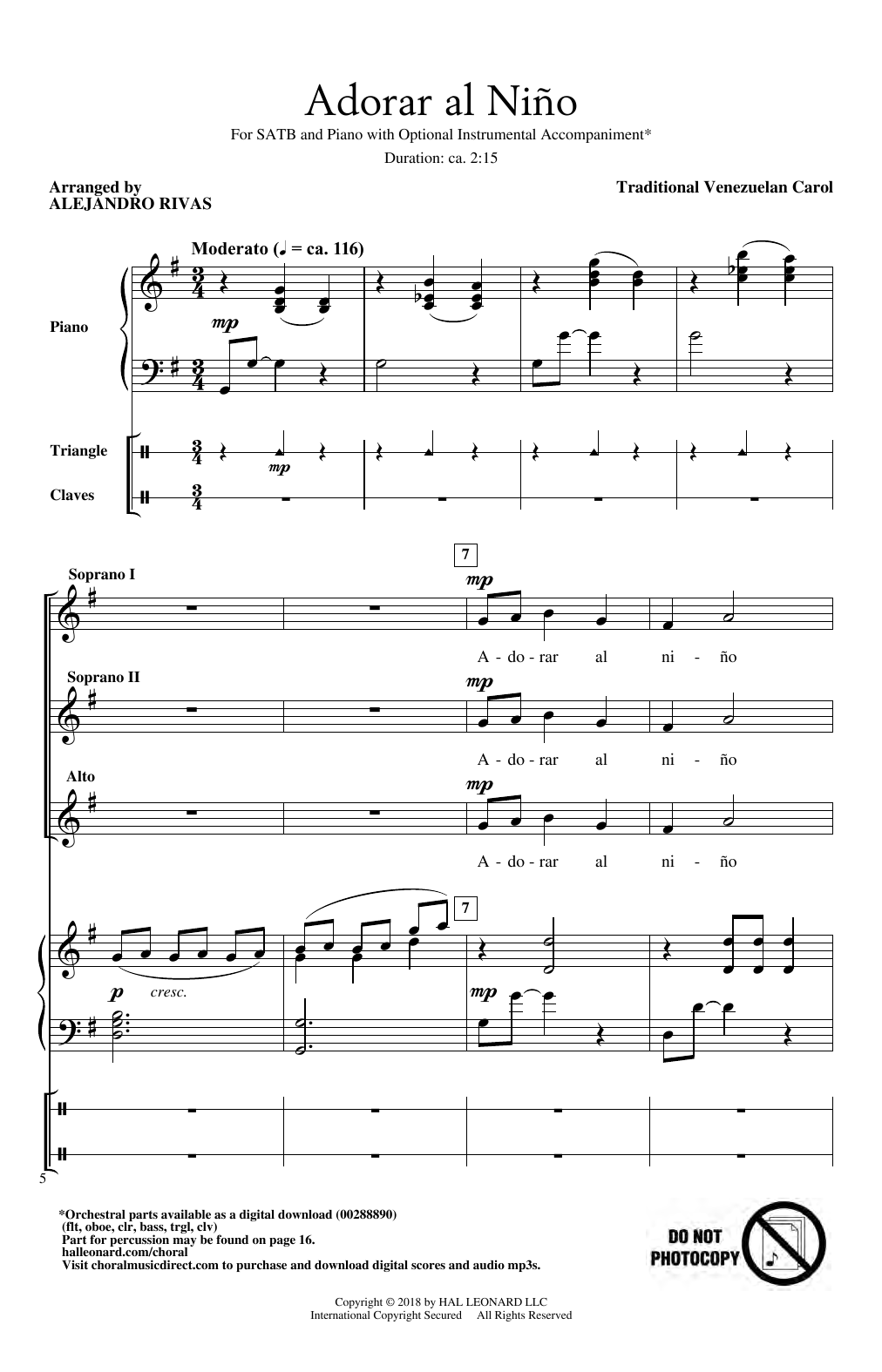 Adorar Al Nino (SSA Choir)